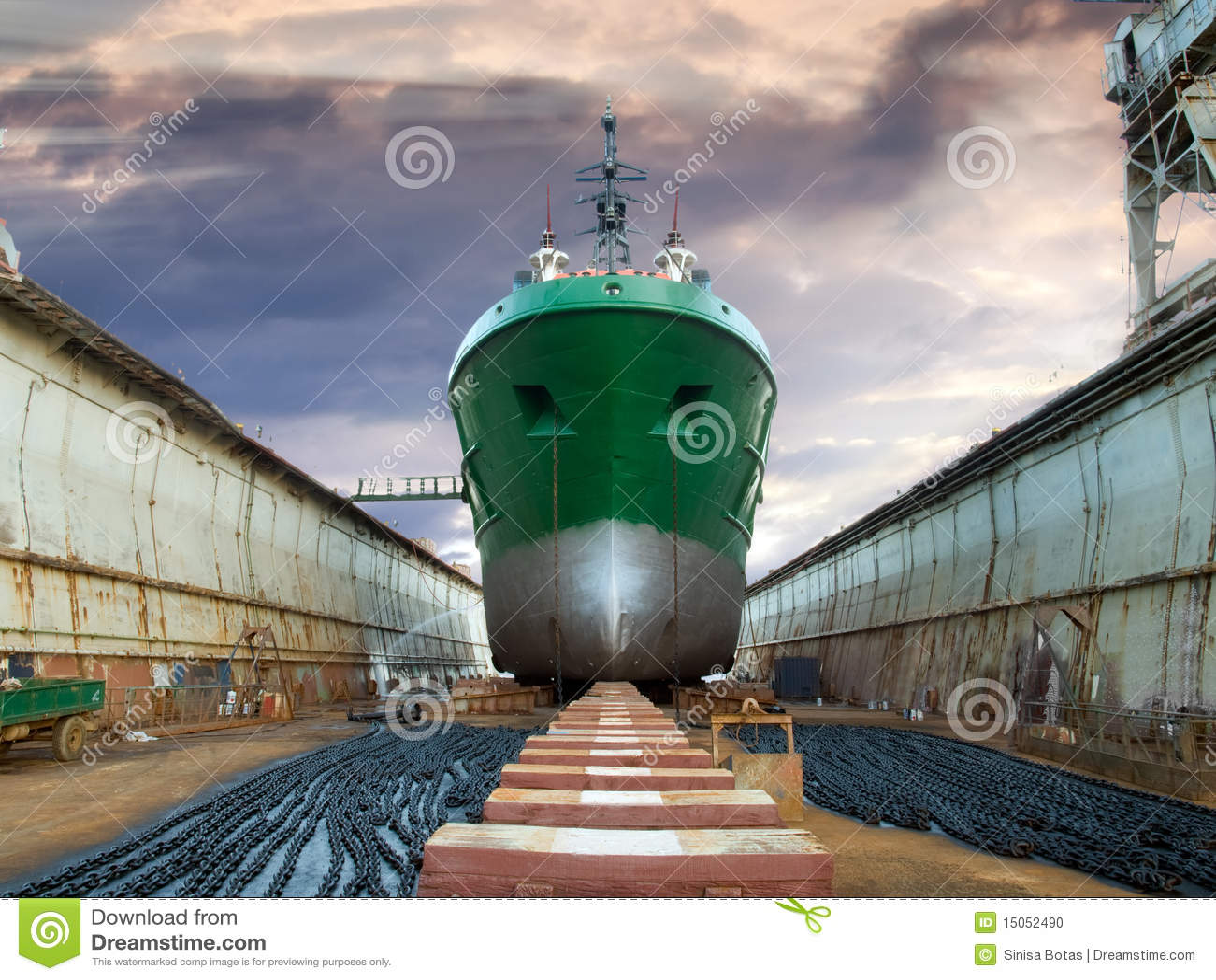 graving dock stock photo image of cargo nautical crane 15052490
