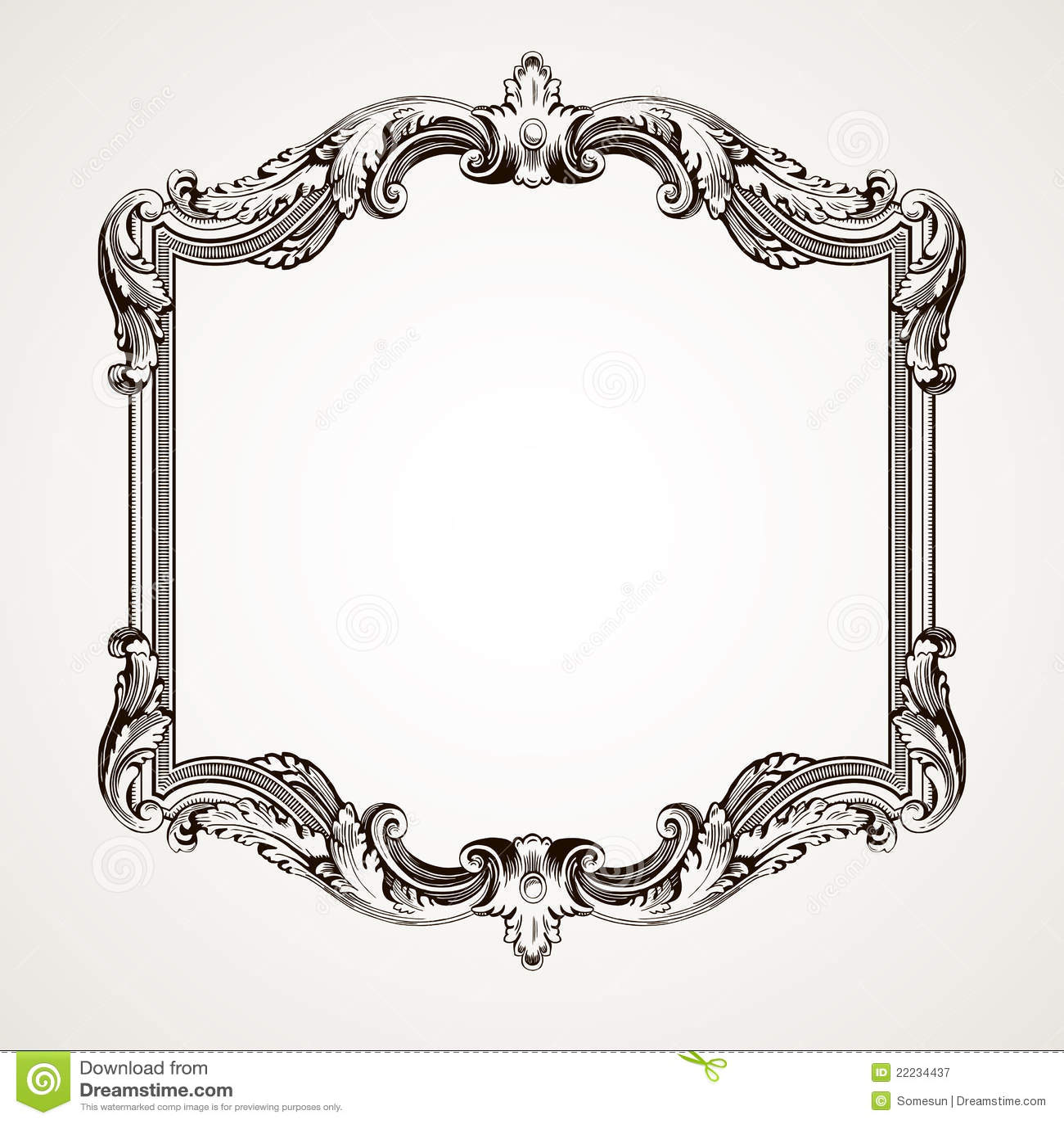 Gravura do frame da beira do vintage do vetor