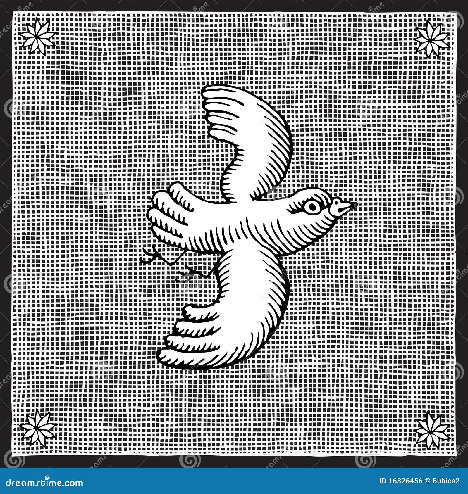 gravure sur bois d 39 oiseau illustration de vecteur. Black Bedroom Furniture Sets. Home Design Ideas