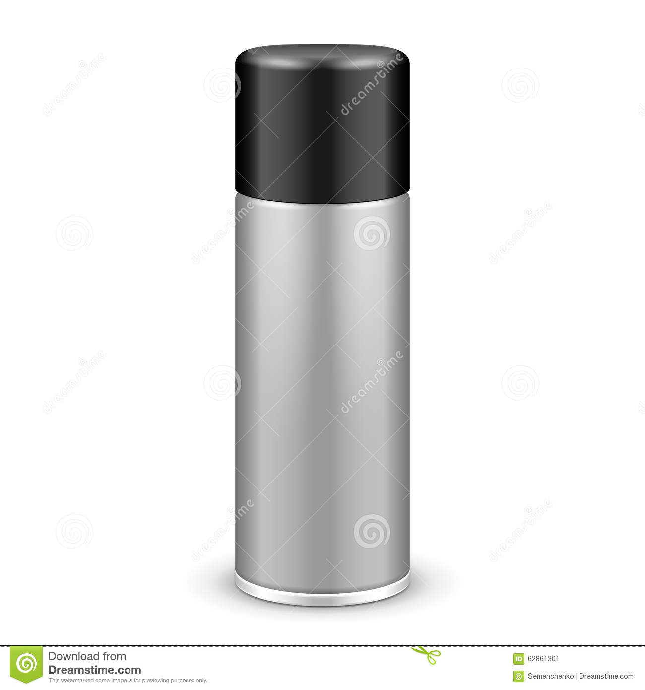 Gray Aerosol Spray Metal Bottle Can With Lid Cap  Paint da74d2370703