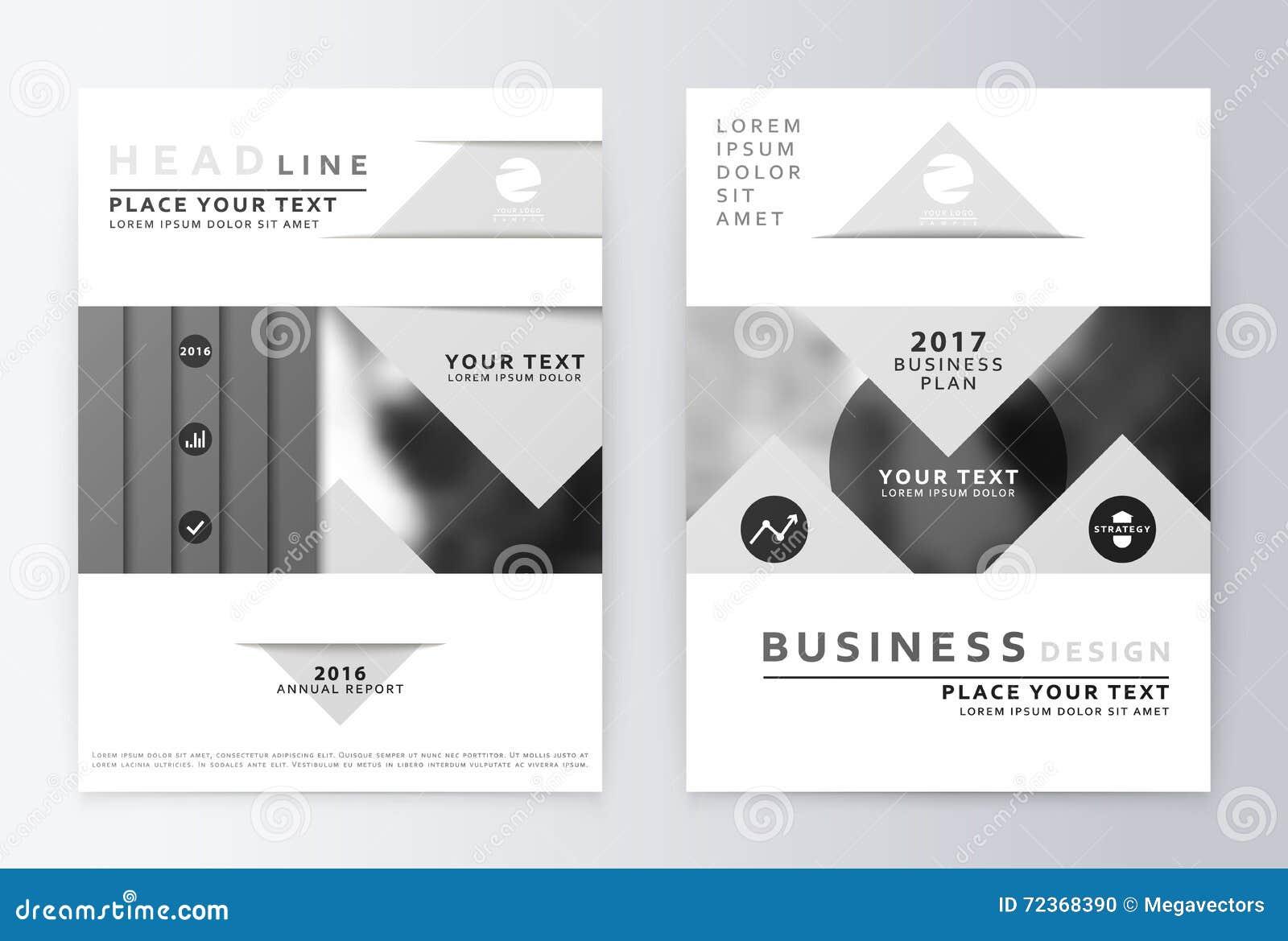 Gray Annual Report Brochure Stock Vector - Image: 72368386