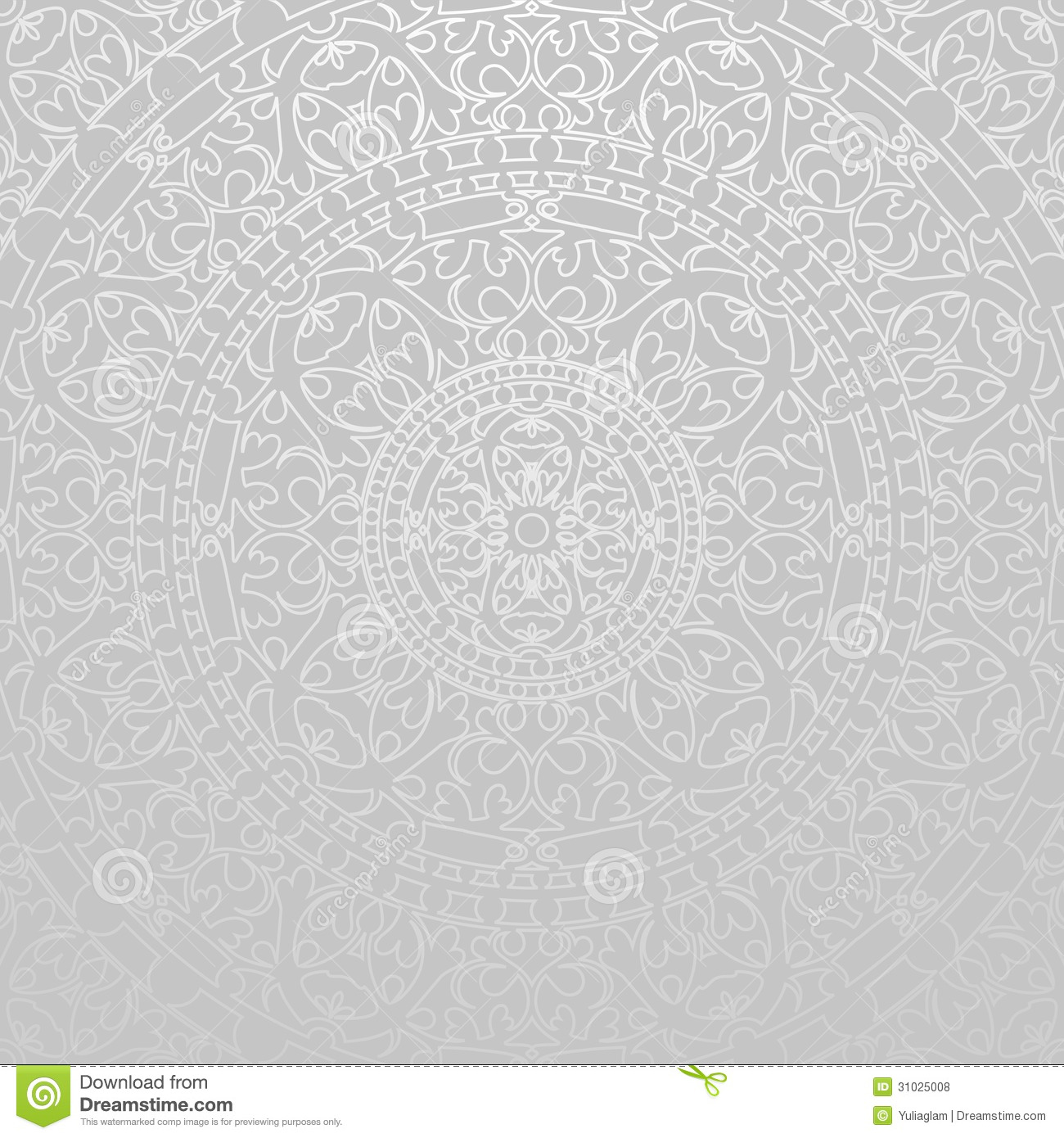Gray Background With Oriental Decorations Stock Vector