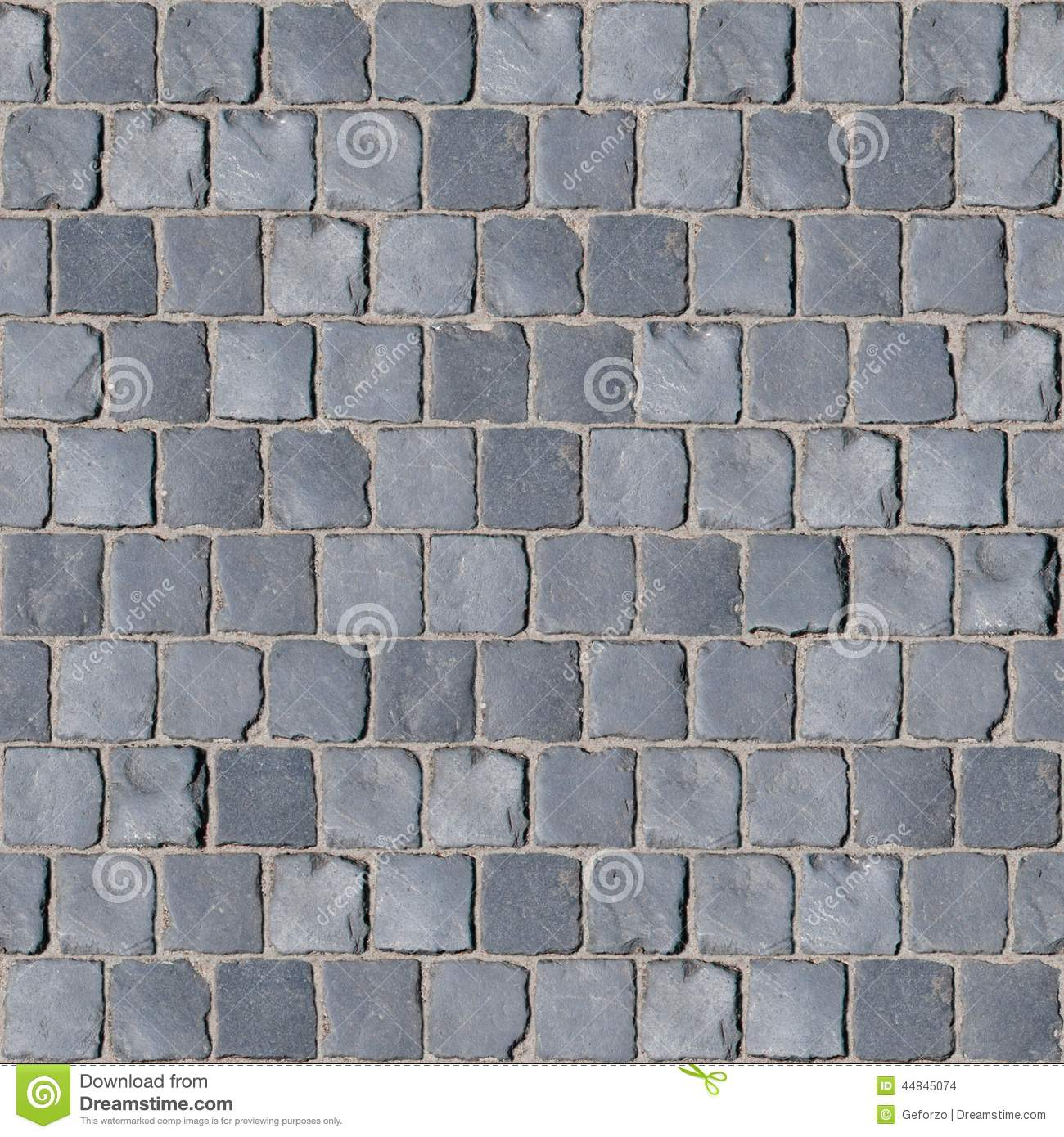 Gray Basalt Cobblestone Texture Stock Photo Image 44845074
