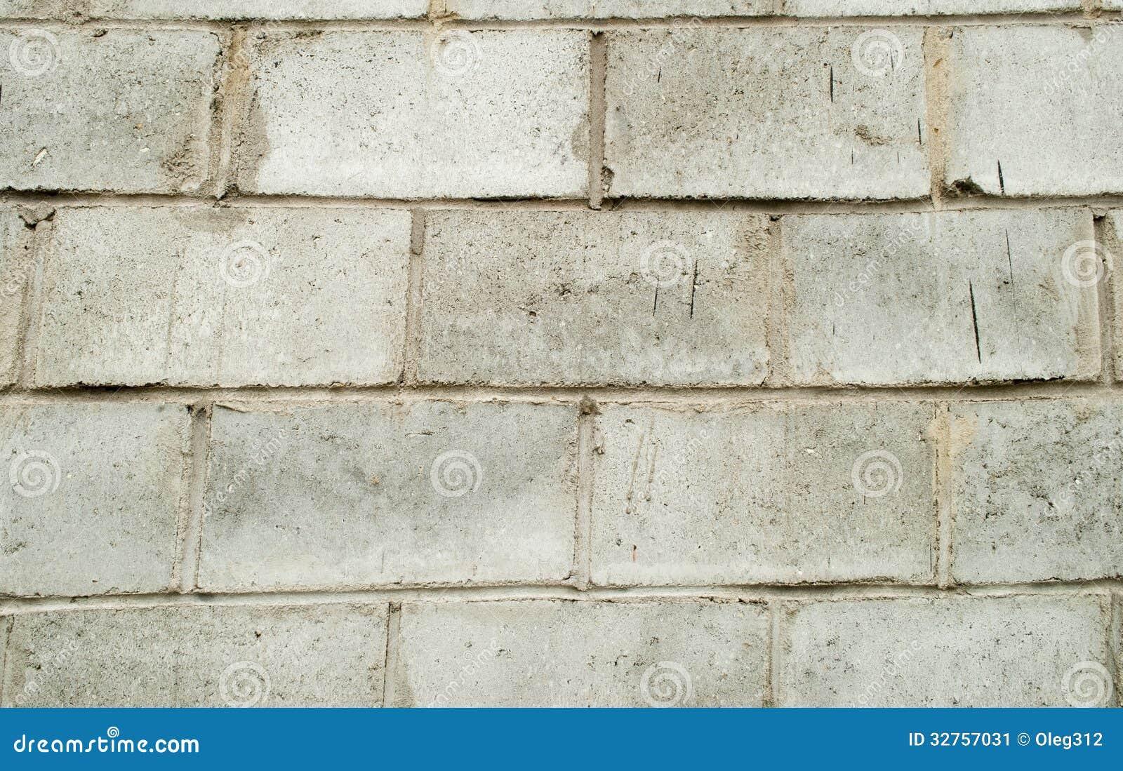 Gray Block Wall Stock Image Image 32757031