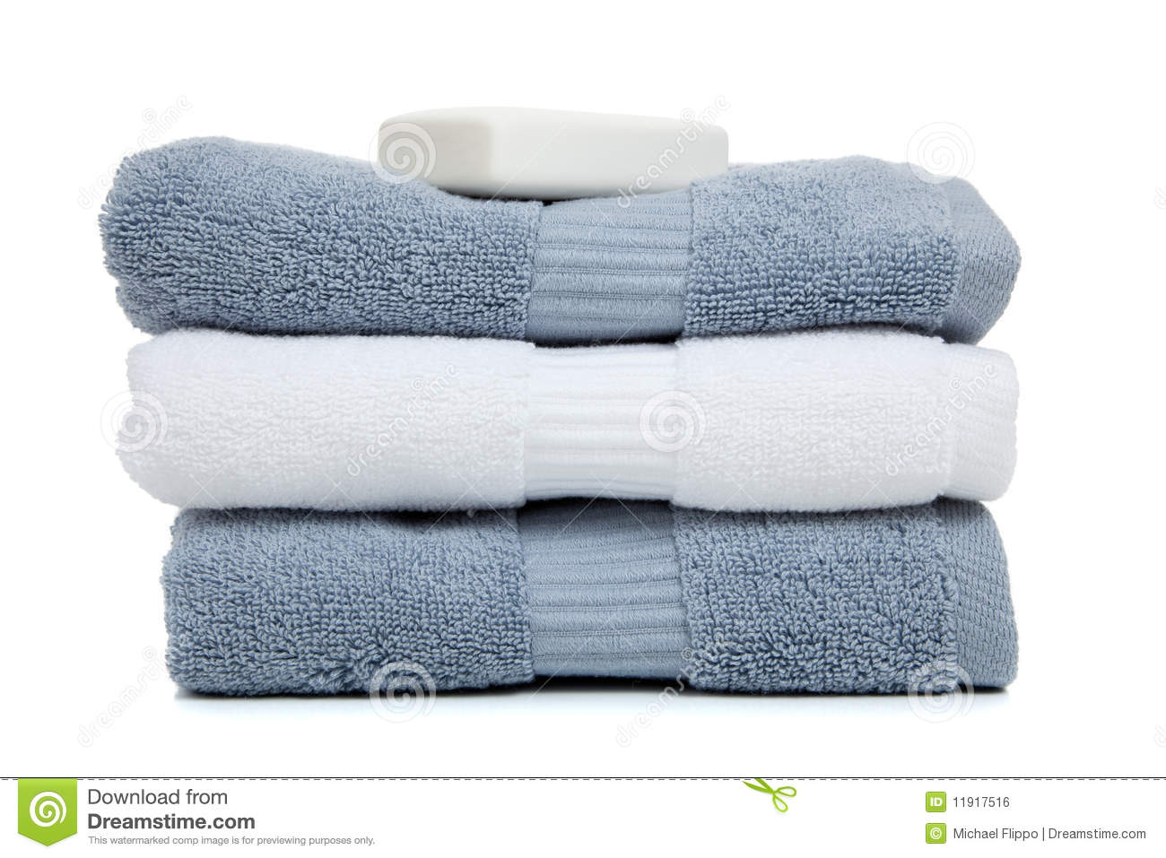 gray blue and white towels with a bar of soap stock photo image of skincare wellness 11917516. Black Bedroom Furniture Sets. Home Design Ideas