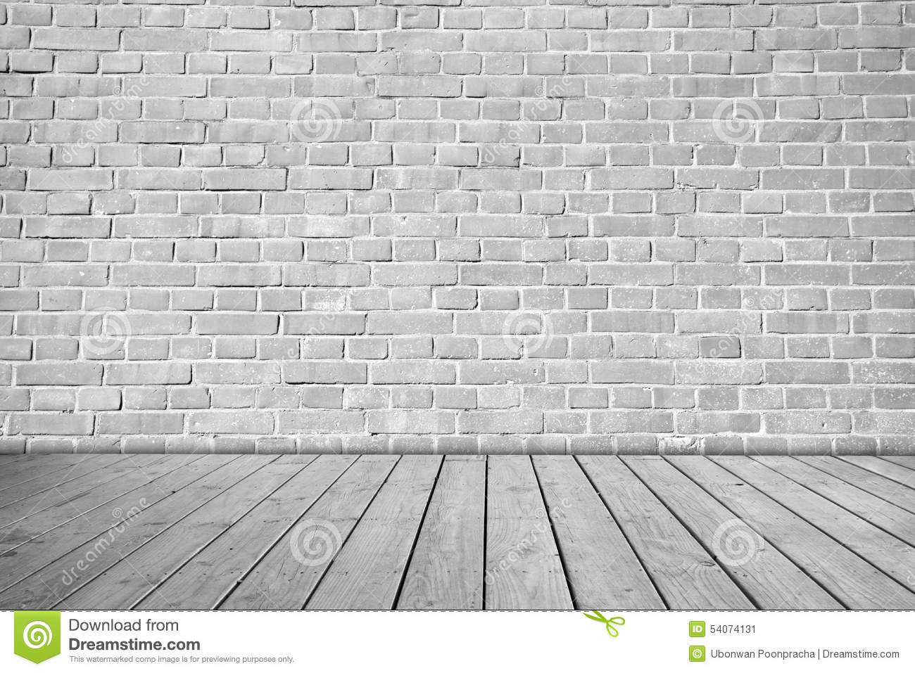 Gray brick wall on wooden floor stock photo image 54074131 for Grey interior walls