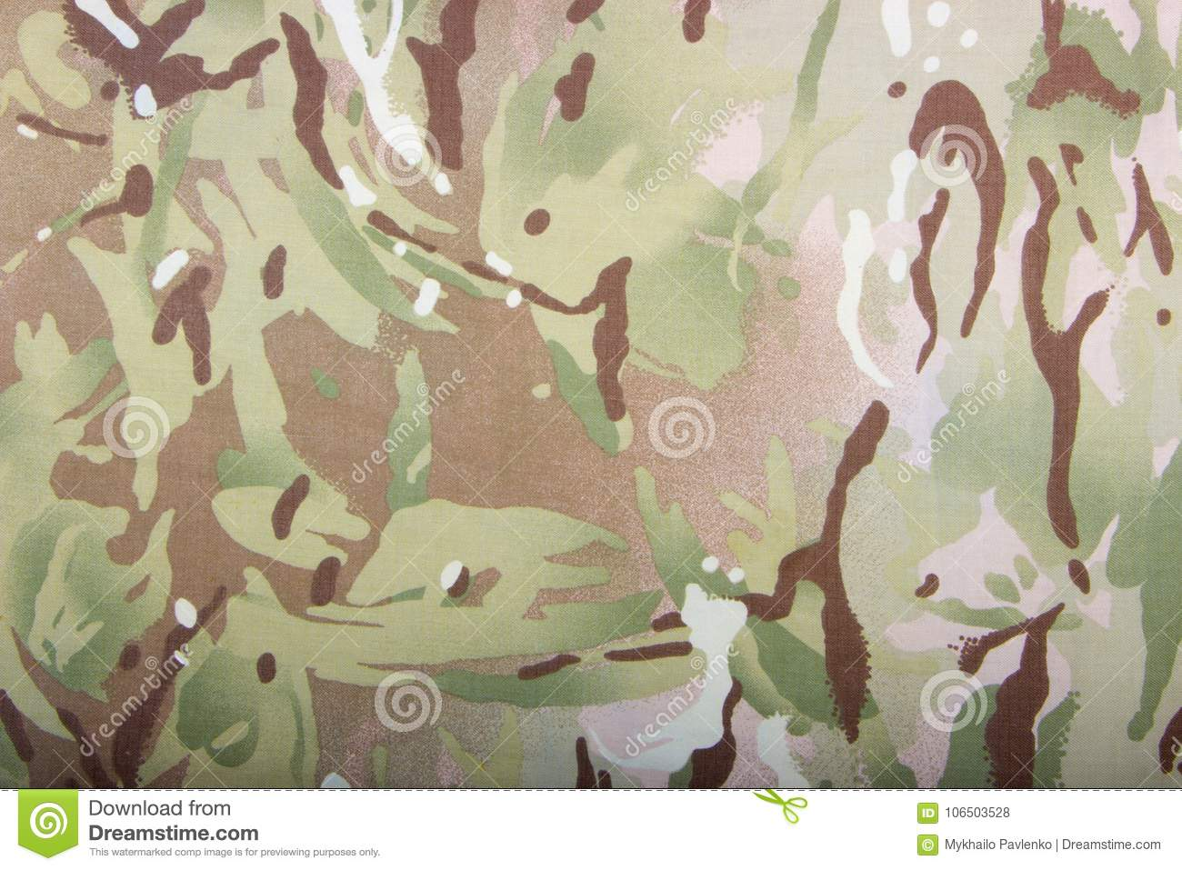 Gray Camouflage Fabric Texture Background Stock Photo