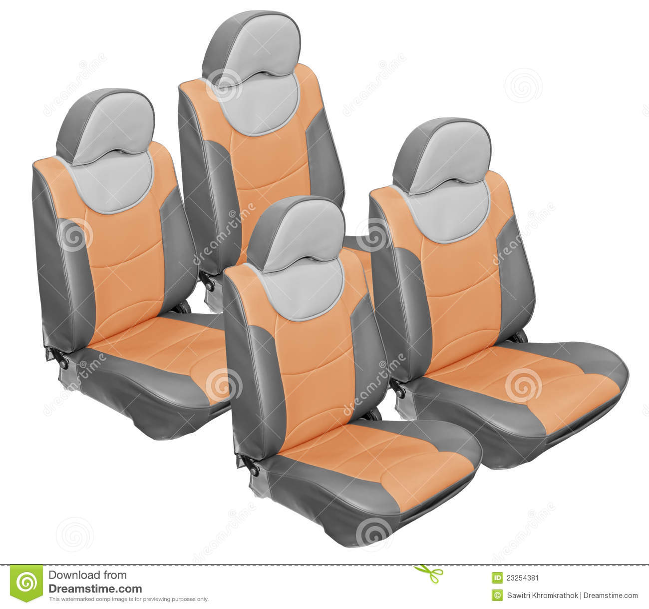 gray car seats leather stock image image 23254381. Black Bedroom Furniture Sets. Home Design Ideas