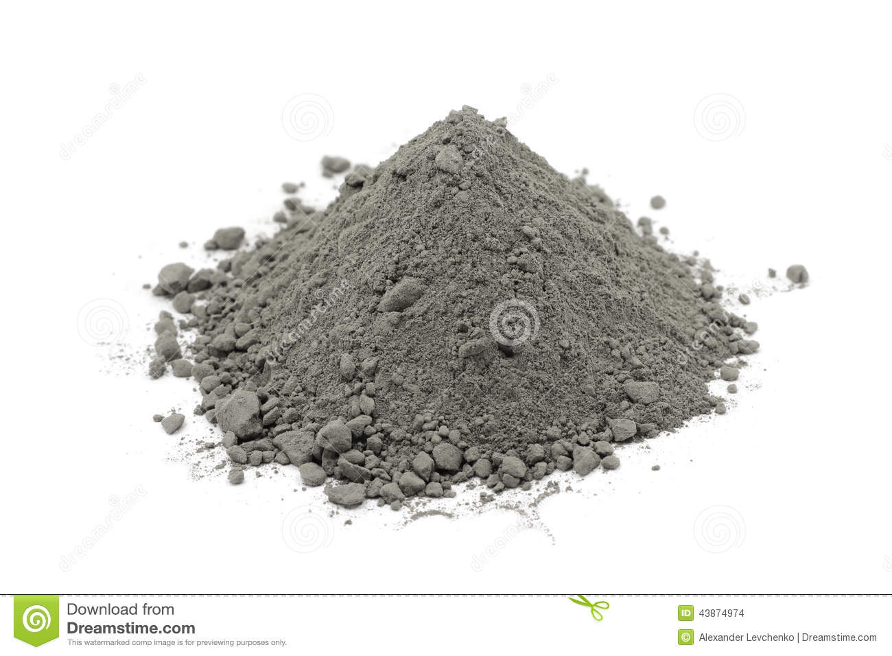 White Cement Clinker : Gray cement powder stock photo image of handful clinker