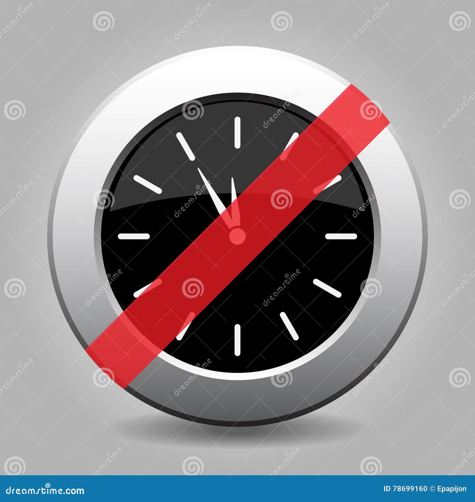 Gray chrome button - no last minute clock