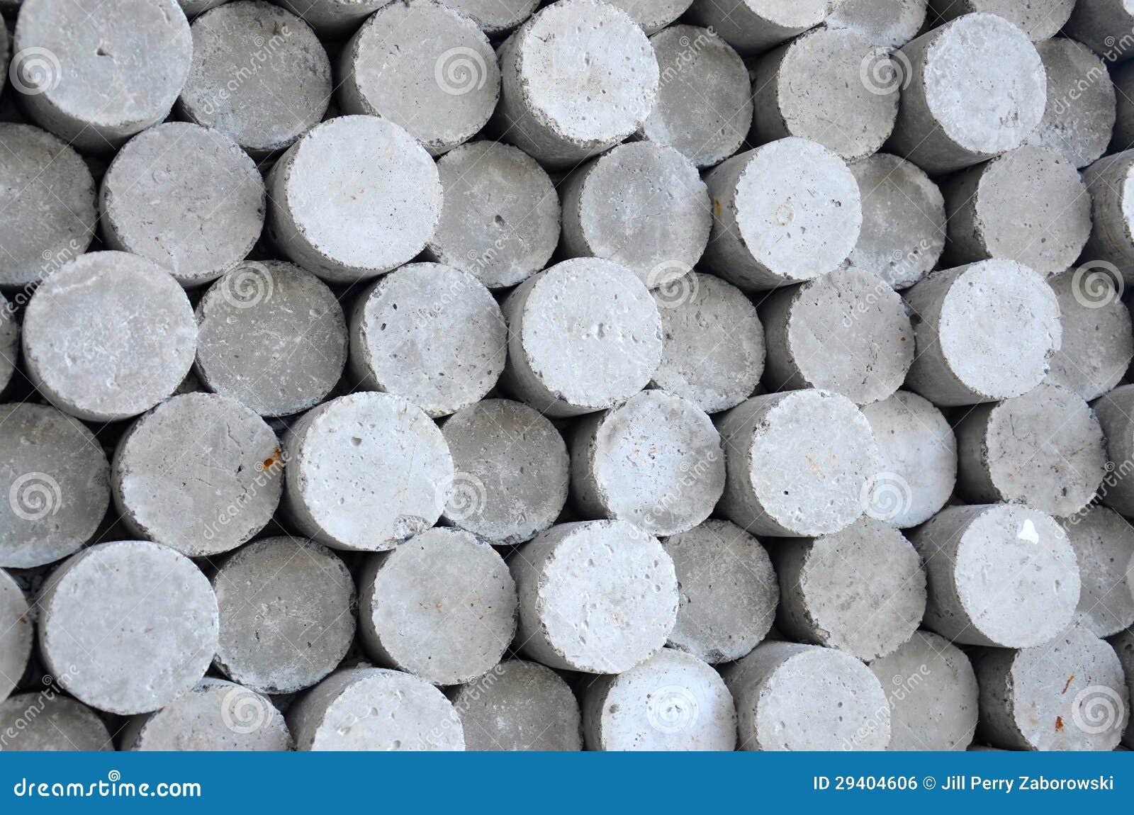 Gray Circle Cylinder Concrete Shapes Stock Photo Image
