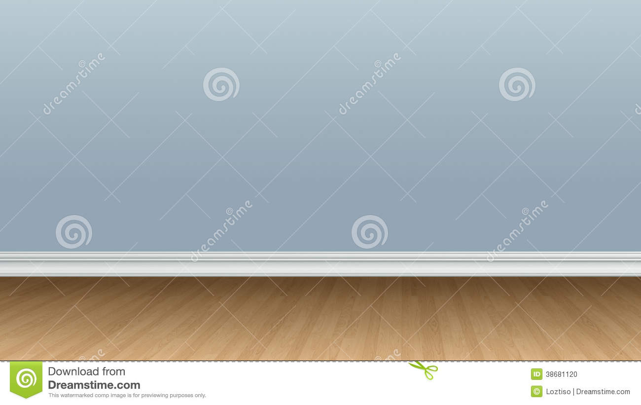 Blank Blue Wall And Wooden Floor Stock Photo Image 38681120