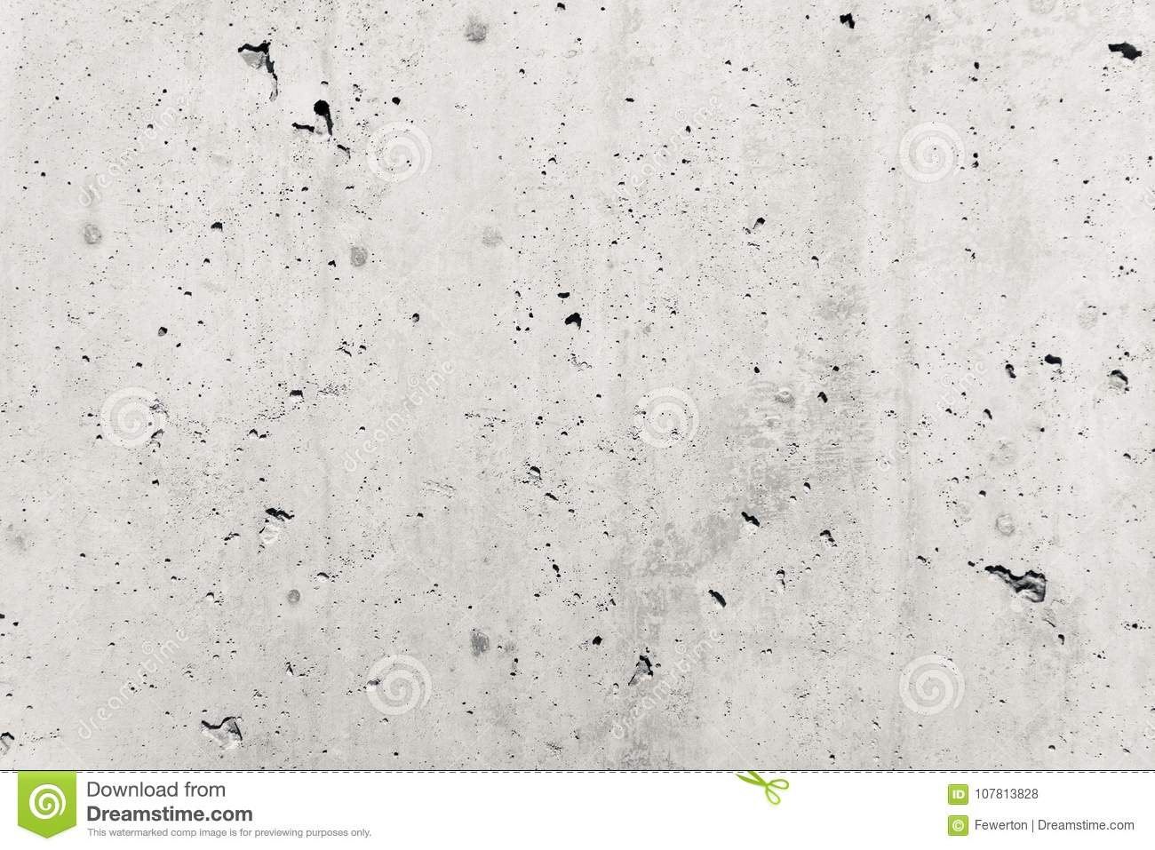 Concrete wall as gray coarse facade made of natural cement with holes and imperfections empty rustic texture concrete background