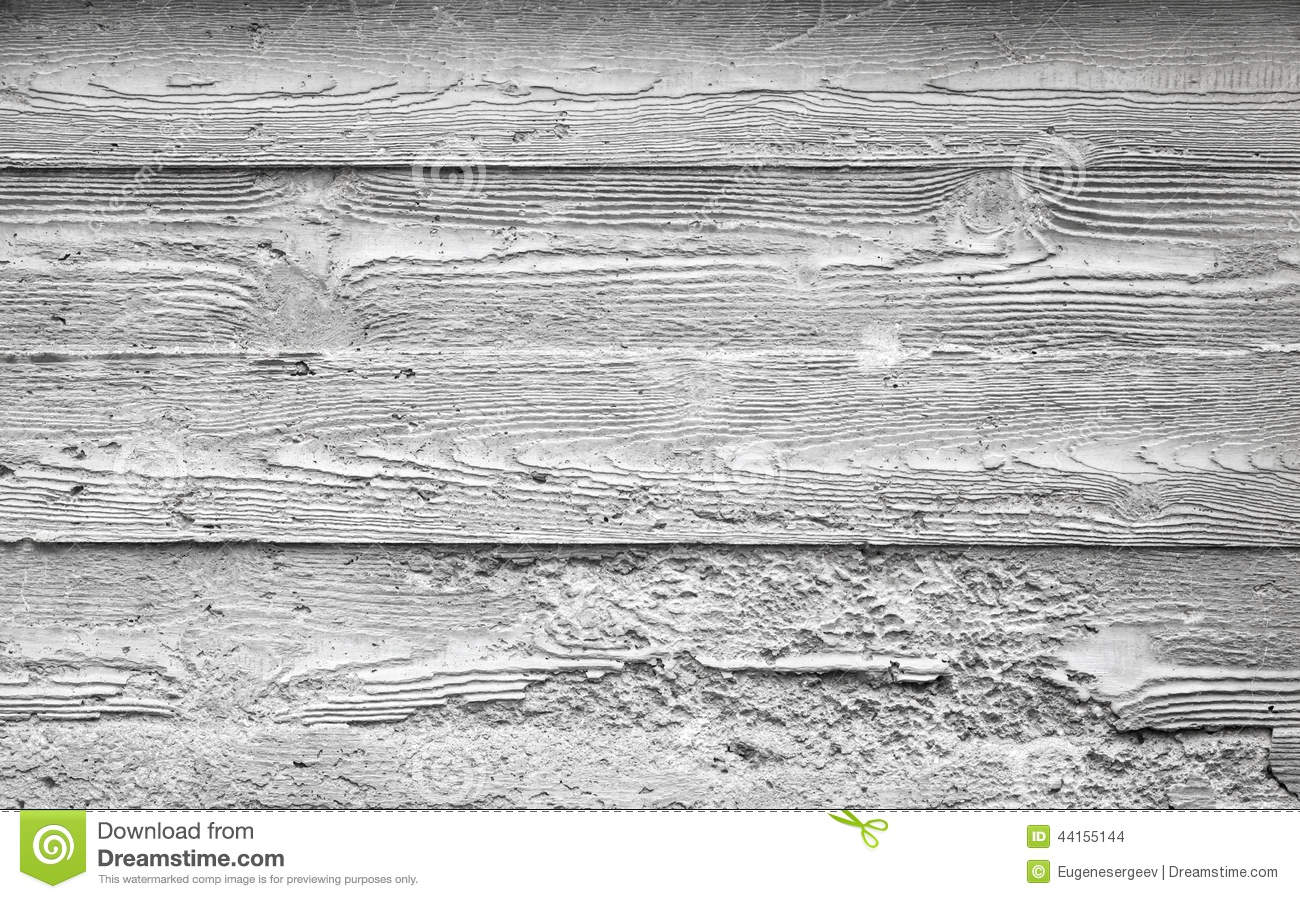Gray Concrete Wall Texture With Wooden Pattern Stock Photo Image