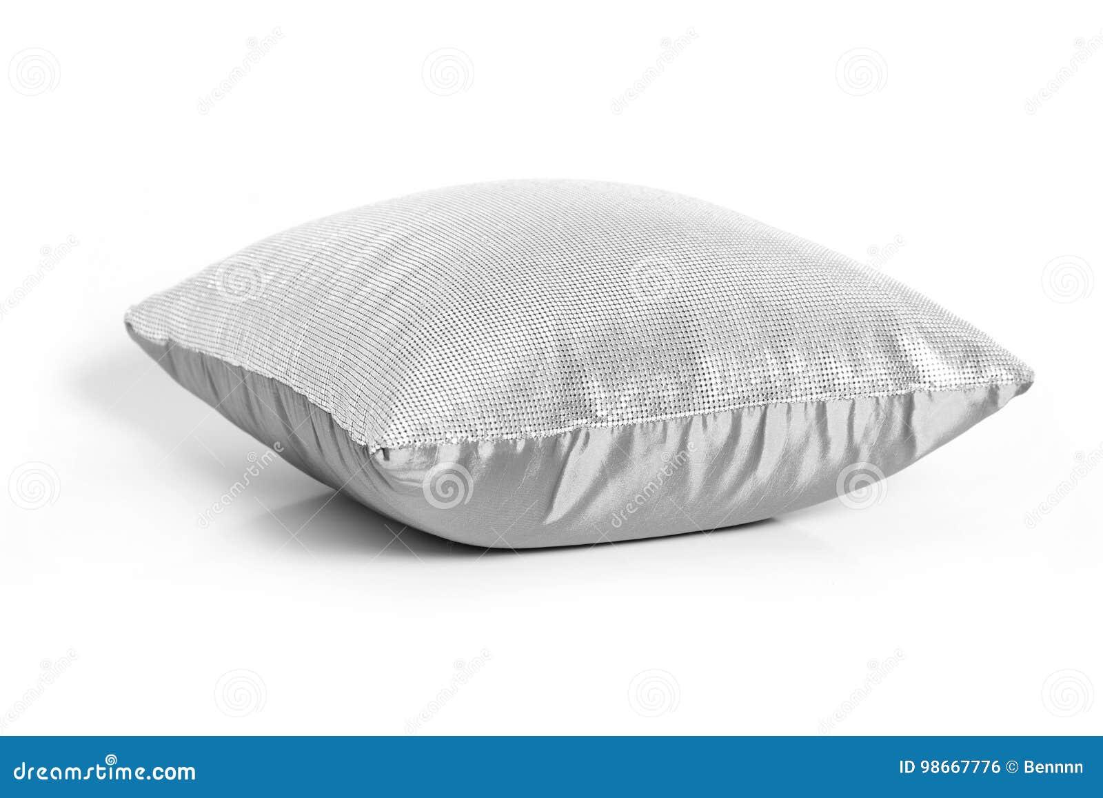 Gray cushion on white