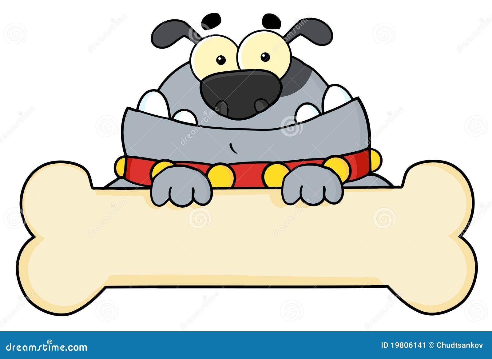 Gray Dog Cartoon Character Stock Image