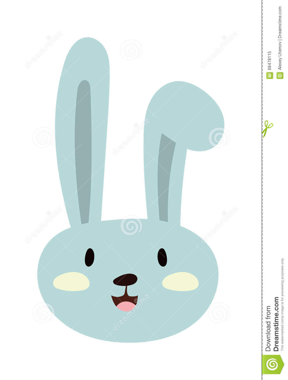 Gray Easter Rabbit Bunny Traditional Symbol Of Spring Seasonal