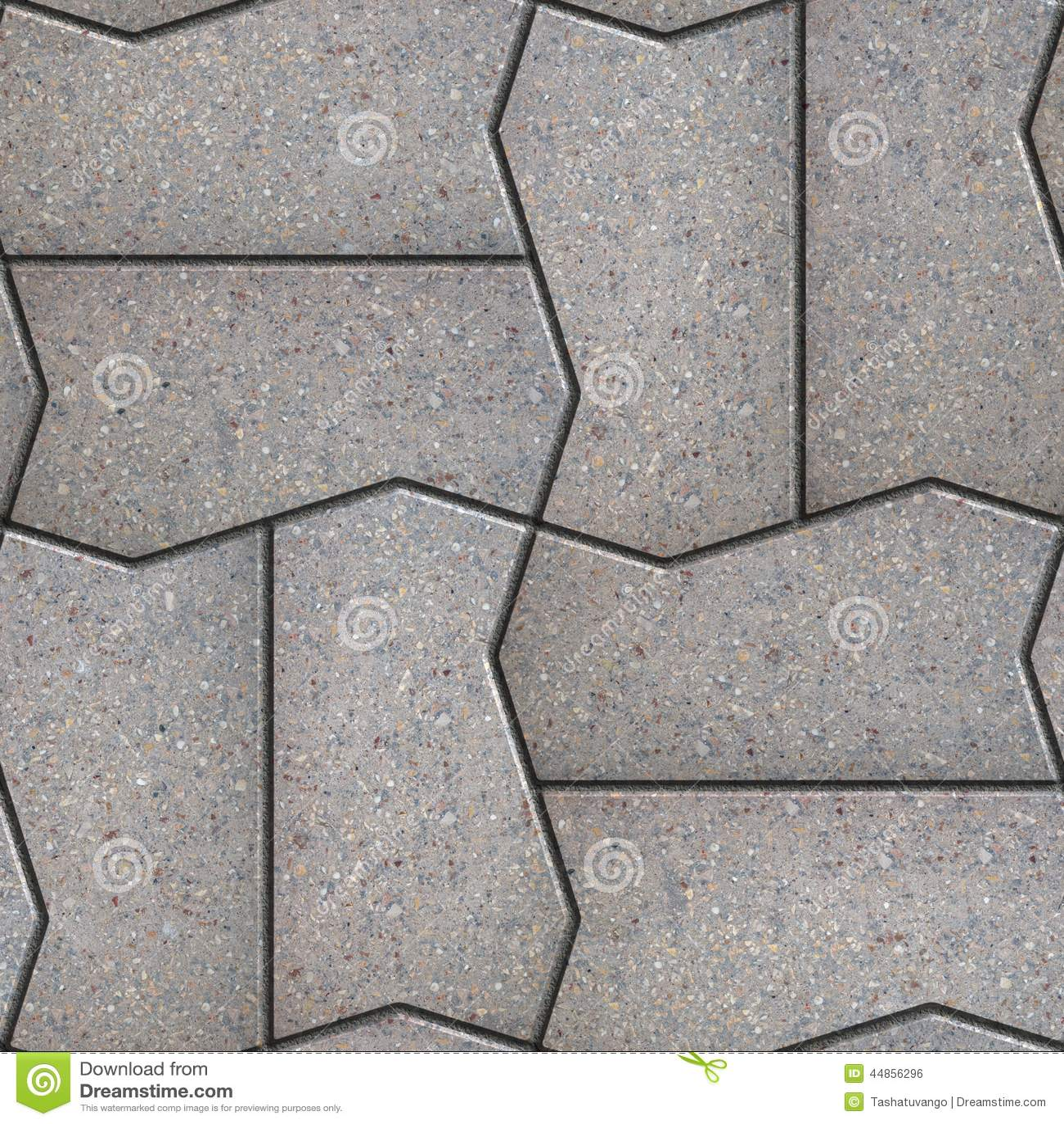Gray Figured Pavement Slabs