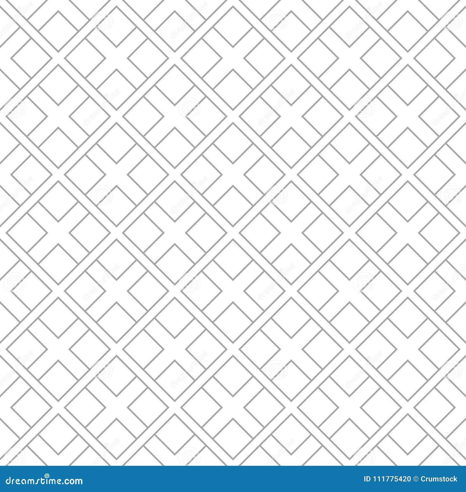 Gray geometric design on white background. Seamless pattern