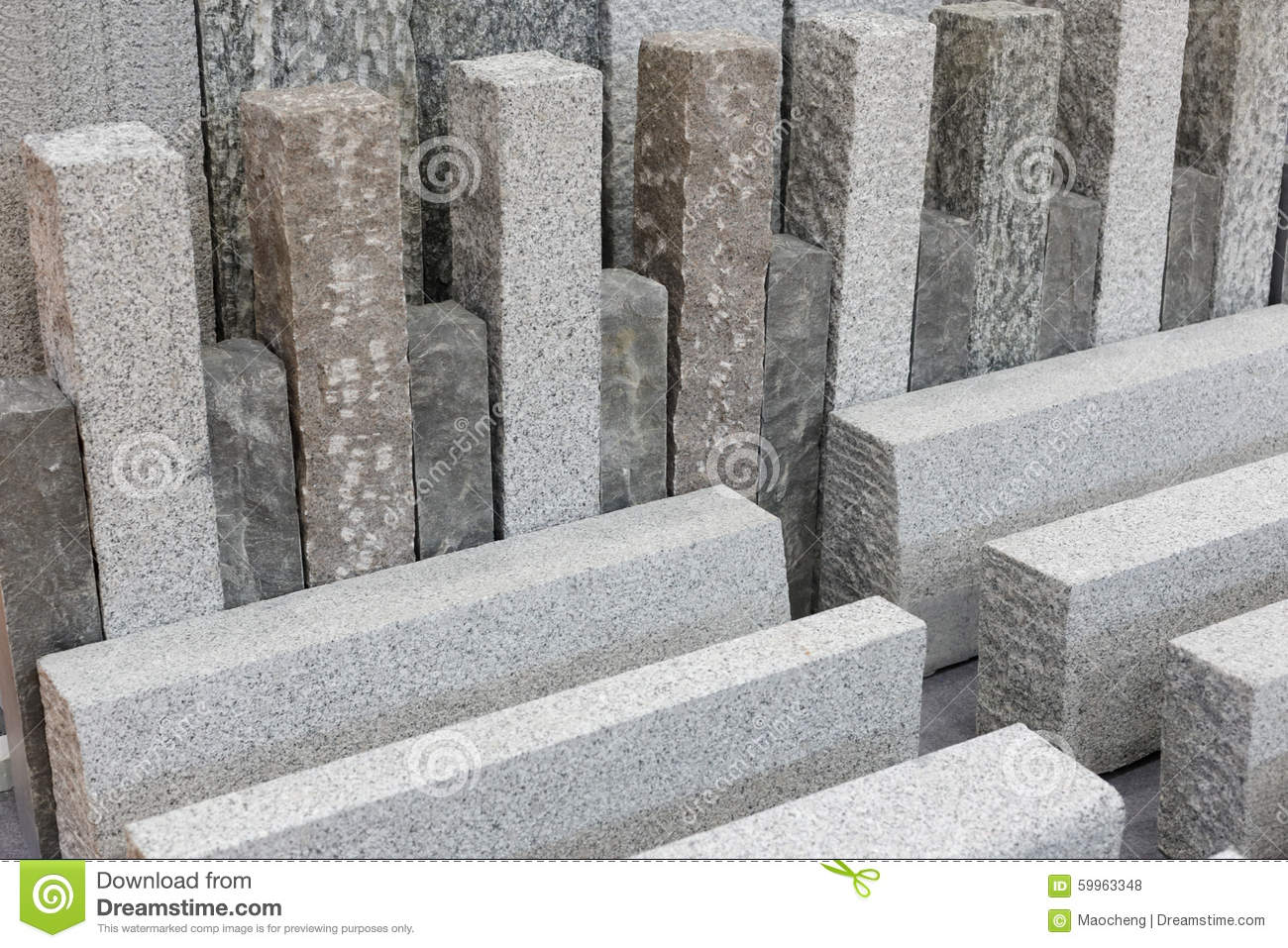 Stone Building Material : Gray granite stone building materials stock photo image