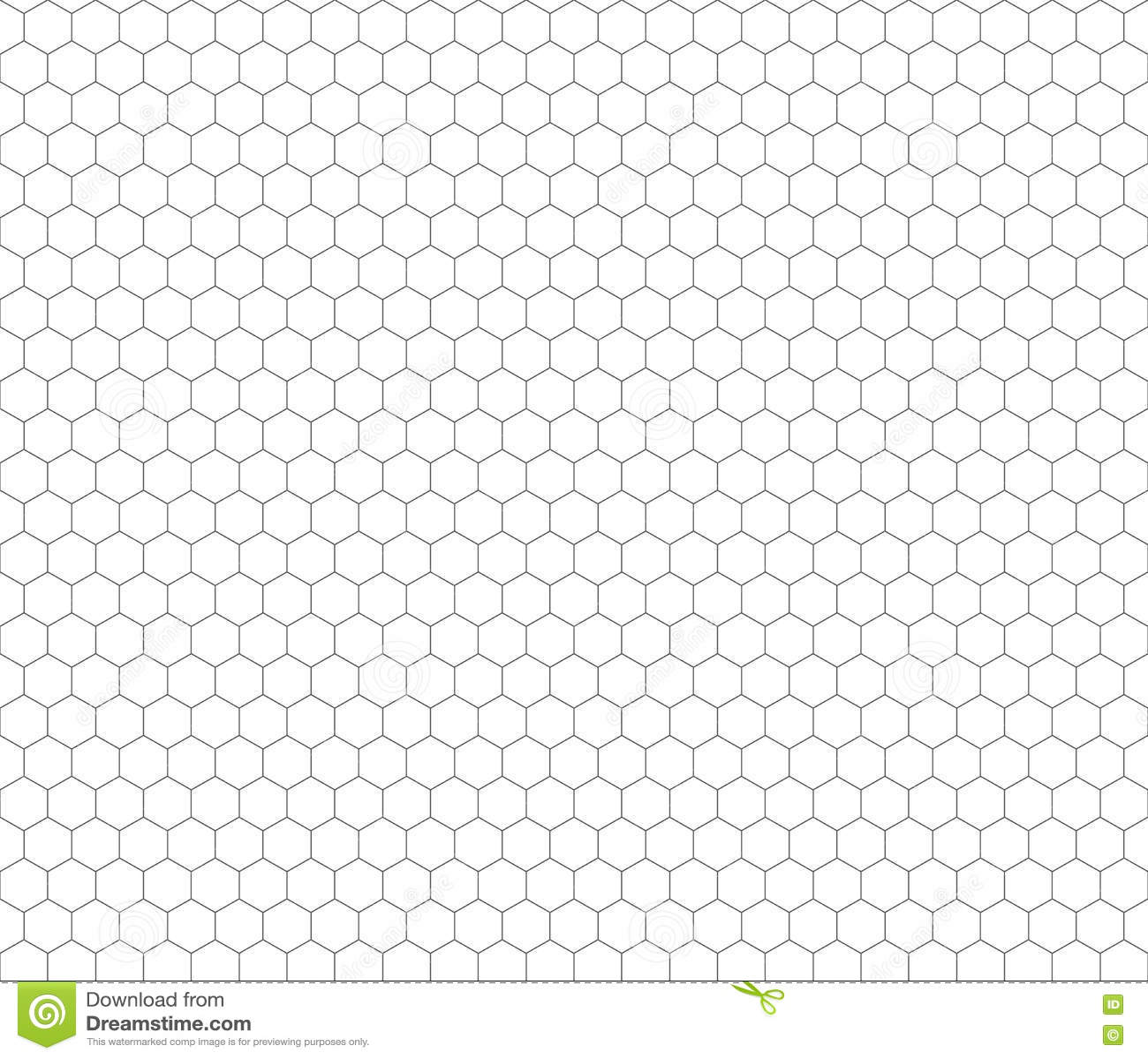 Gray Hexagon Grid Seamless Pattern Stock Illustration