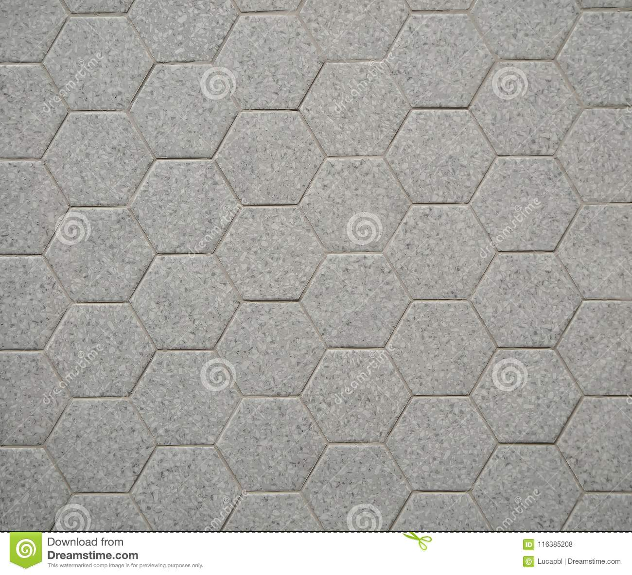 Gray hexagon stone tiles for interiors. They are used mainly for bathrooms, on wall or on floor