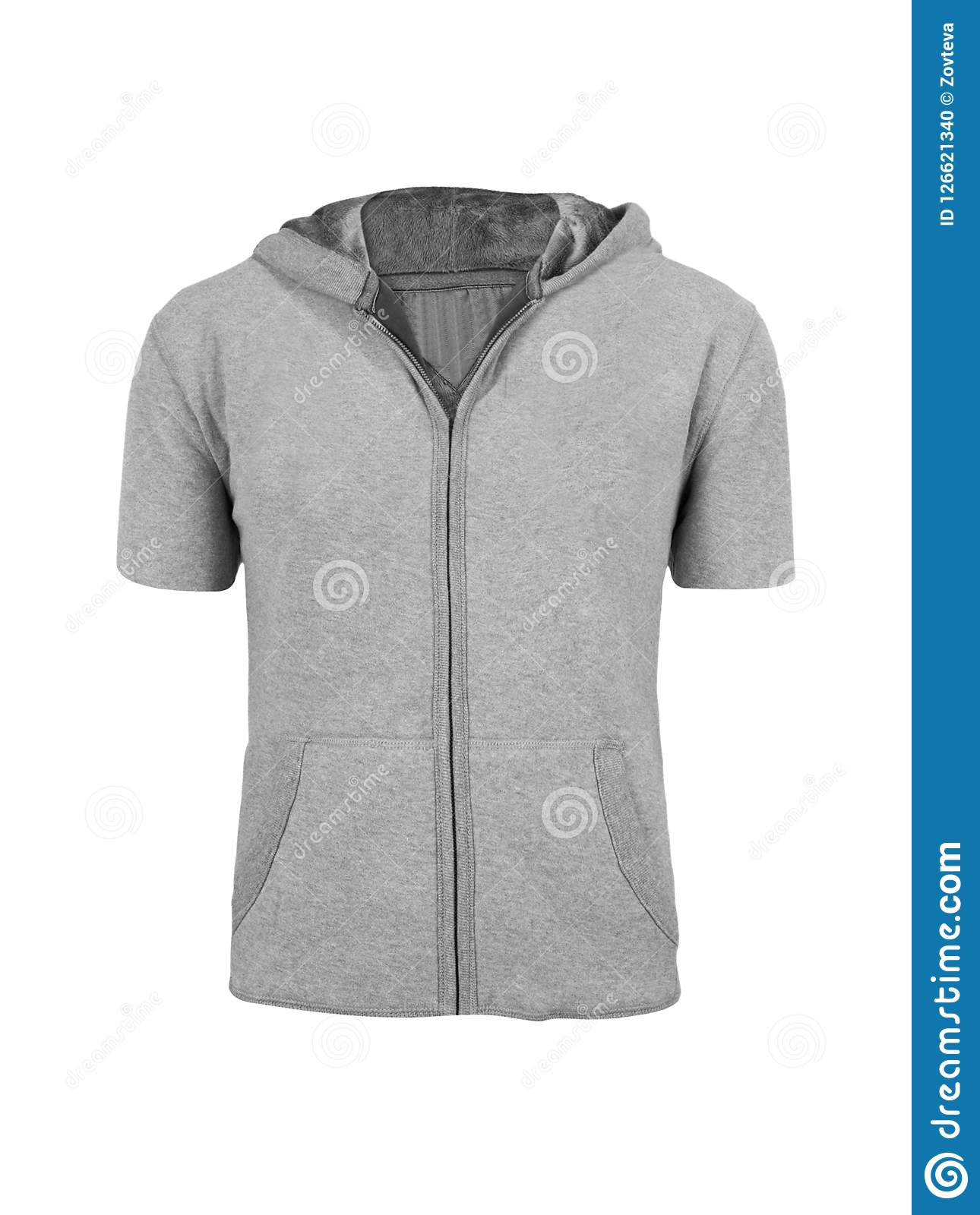 Gray hoodie isolated