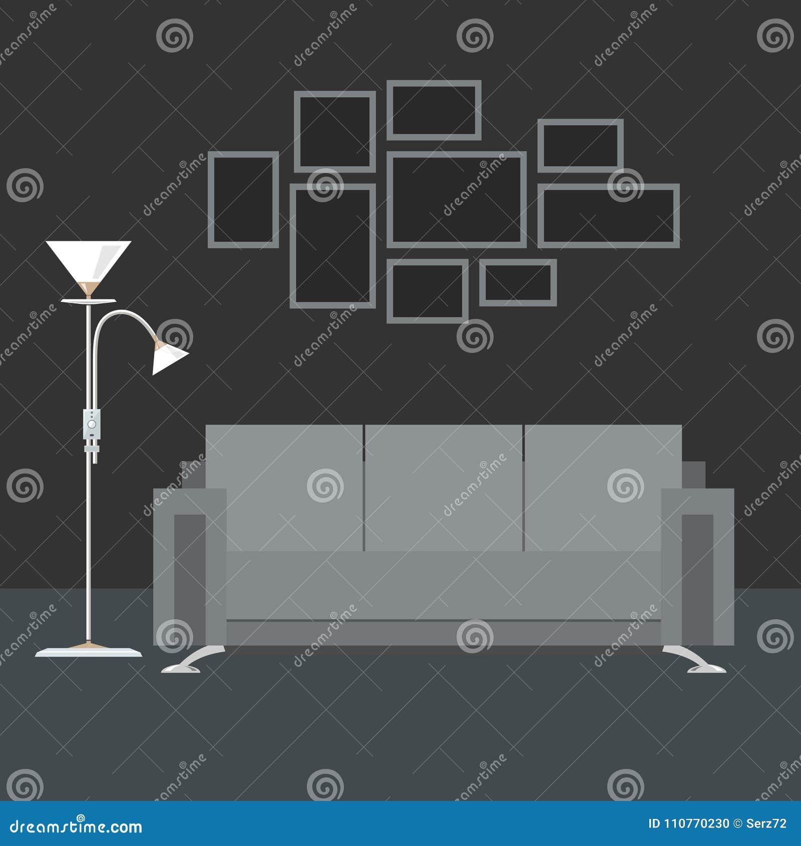 Gray Interior Living Room