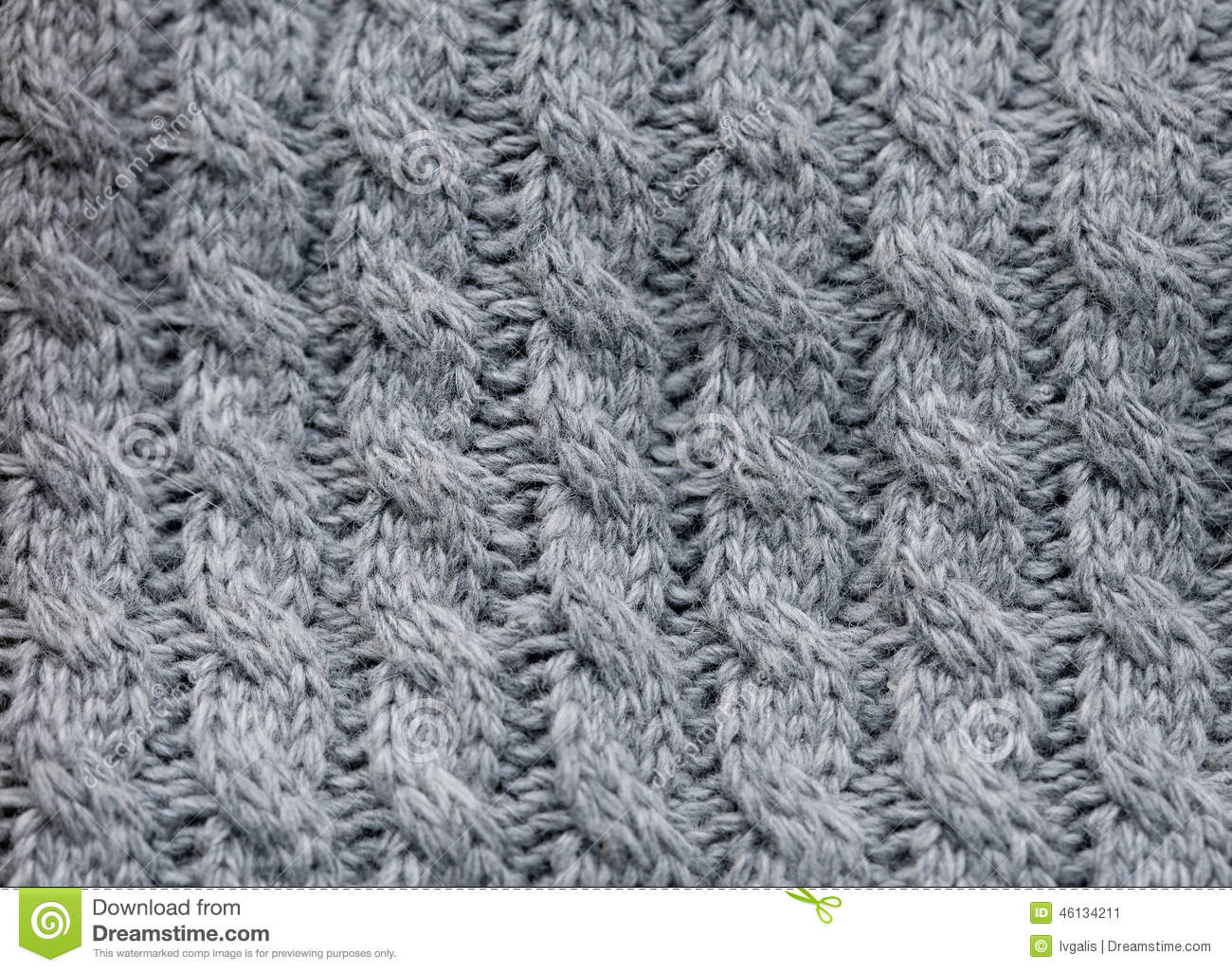 Close Up Photography Of Gray Knit Textile: Gray Knitted Fabric Stock Photo