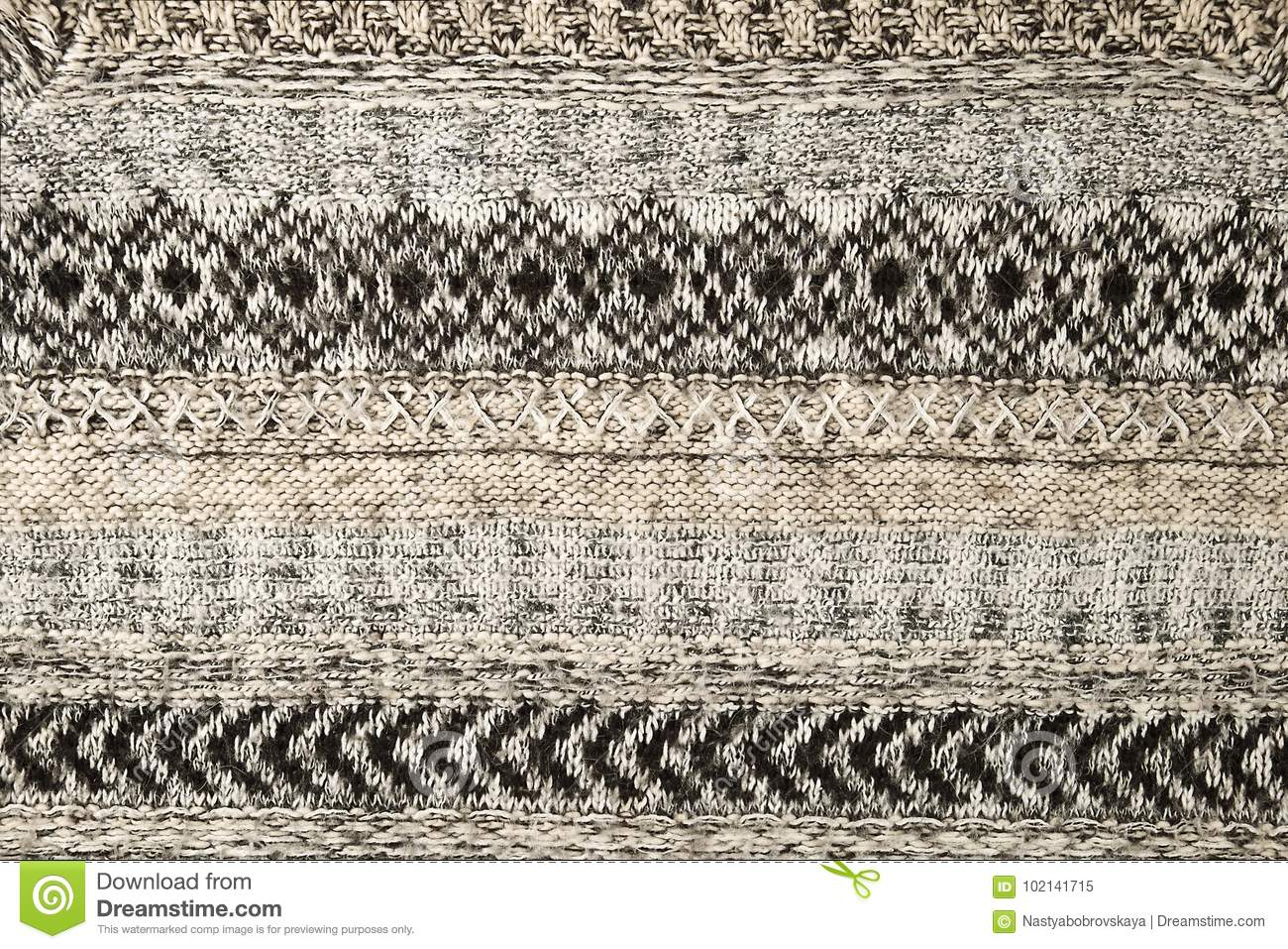 Close Up Photography Of Gray Knit Textile: Gray Knitted Sweater Closeup. Textile Texture Grey Color