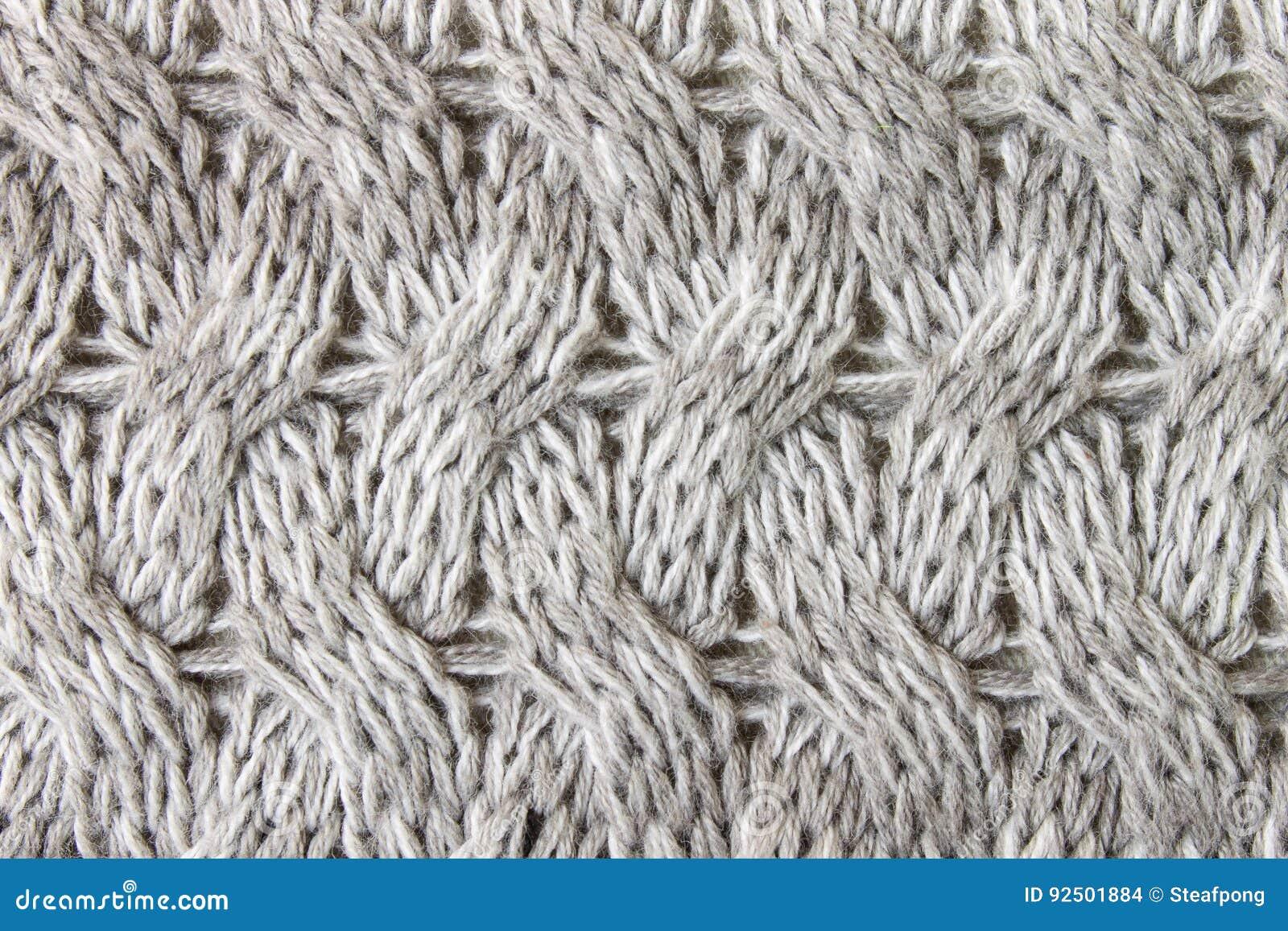 Gray Knitting O Cierre Hecho Punto Del Fondo Del Modelo De La ...