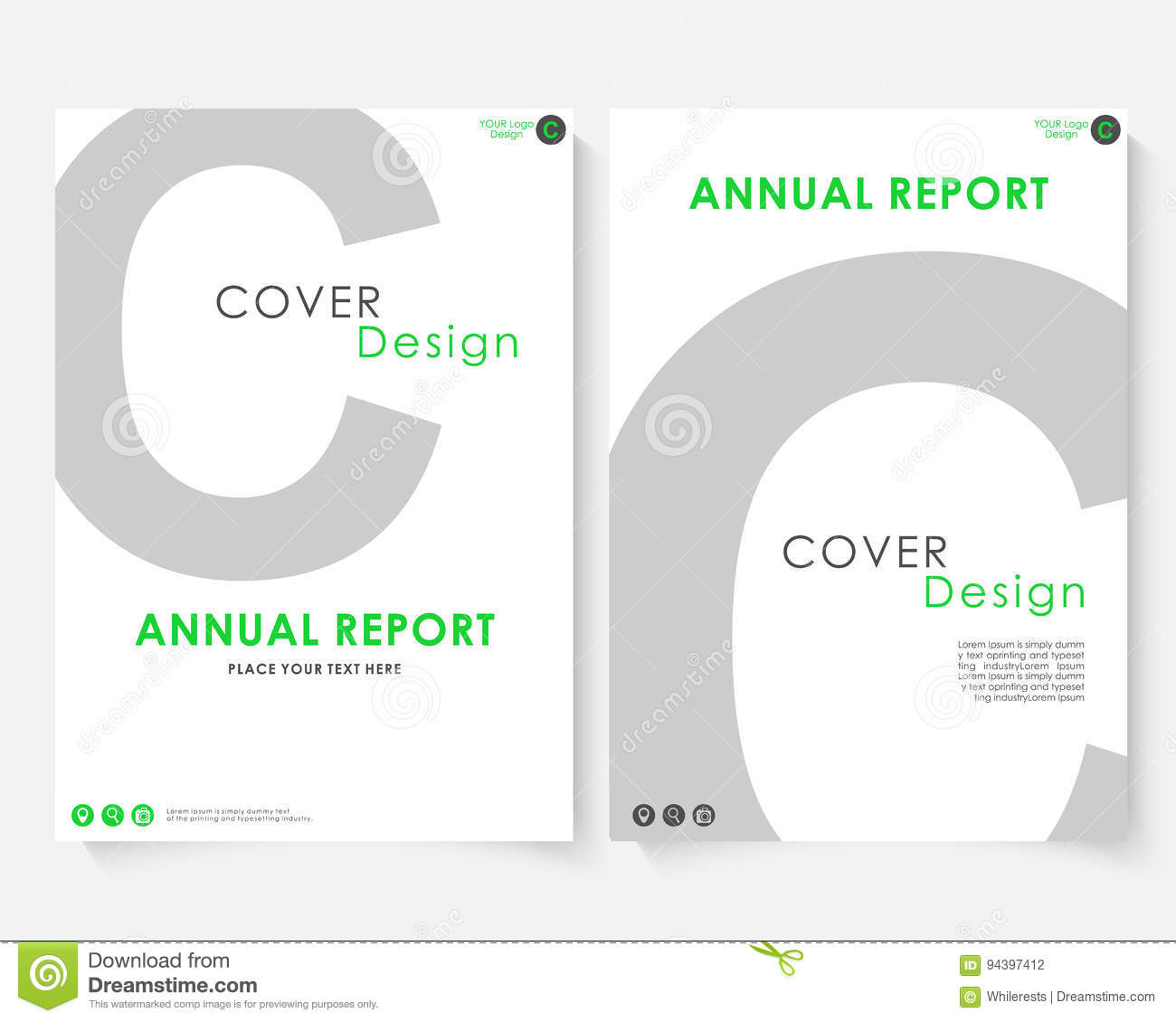 Gray letter annual report cover design template vector brochure gray letter annual report cover design template vector brochure concept presentation website portfolio white layout madrichimfo Choice Image
