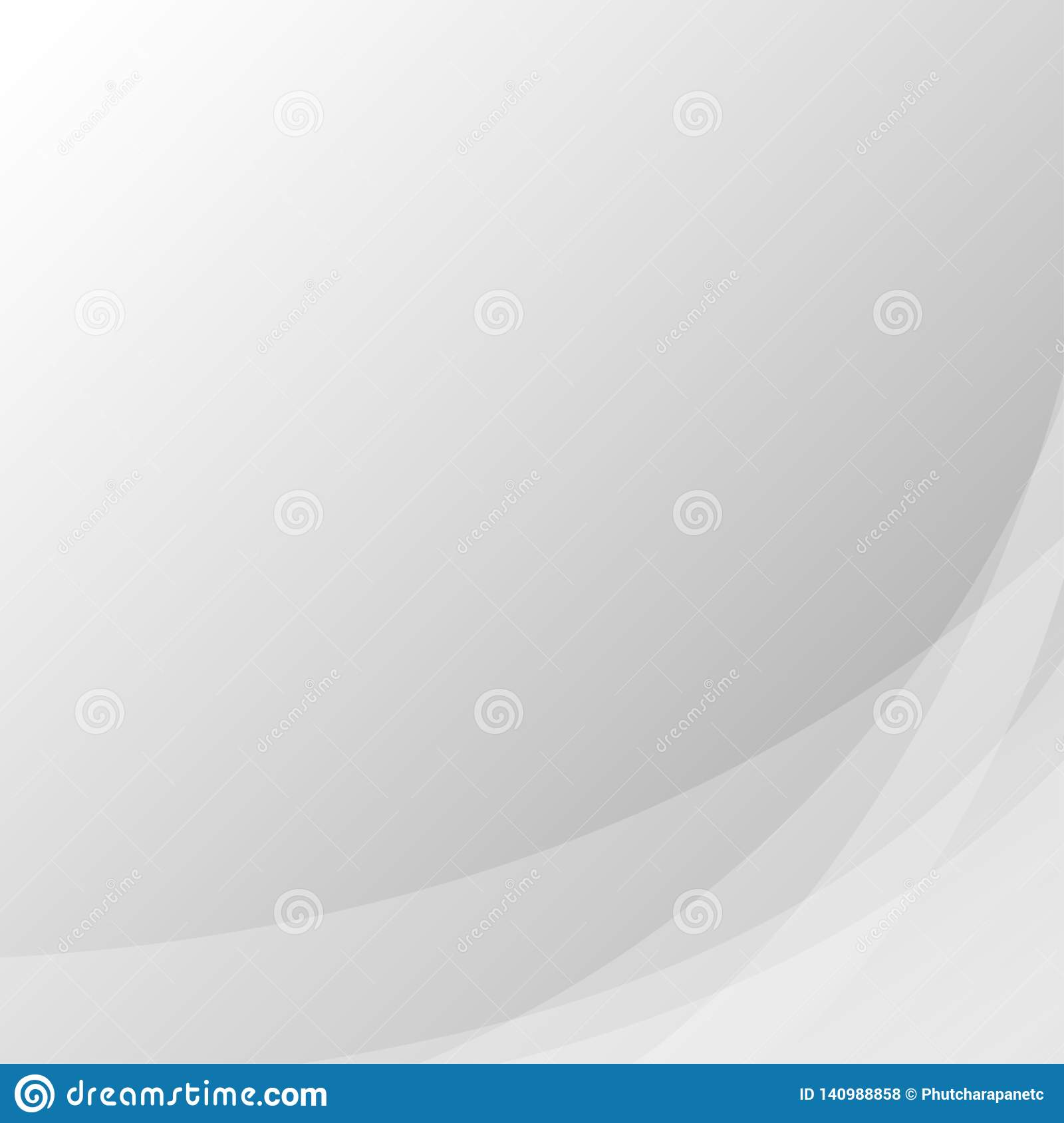 Gray line wave concept abstract vector subtle background