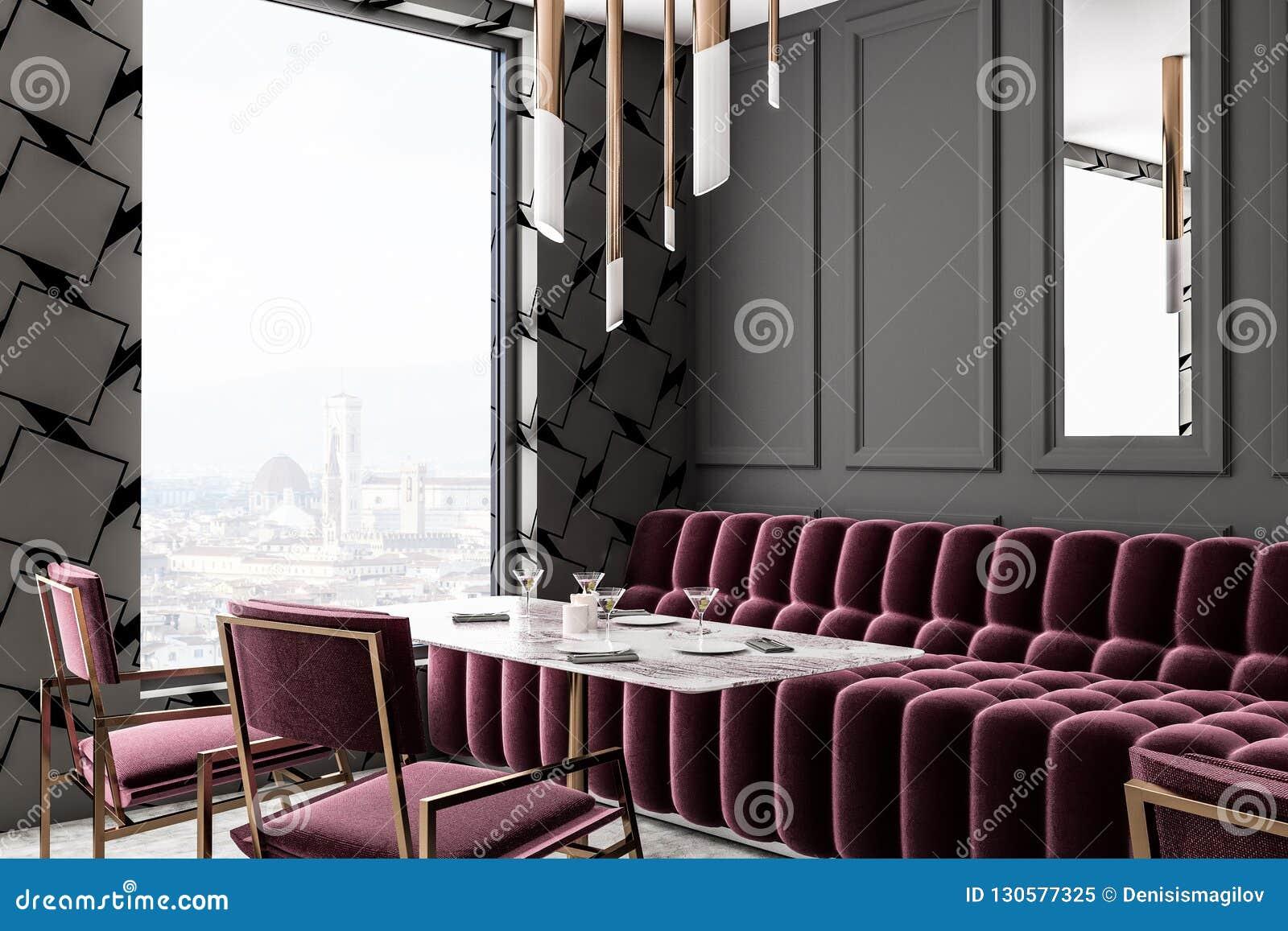 Swell Gray Loft Restaurant Corner Red Sofa Stock Illustration Forskolin Free Trial Chair Design Images Forskolin Free Trialorg