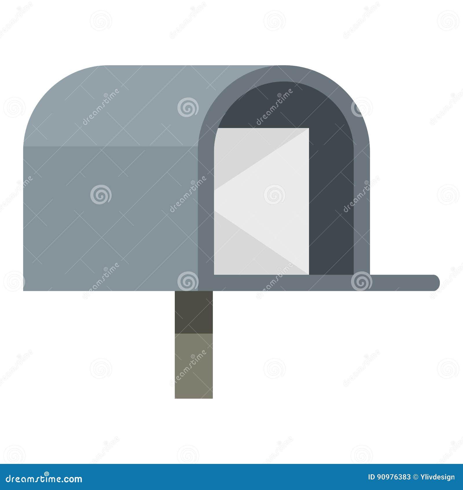Gray mailbox icon