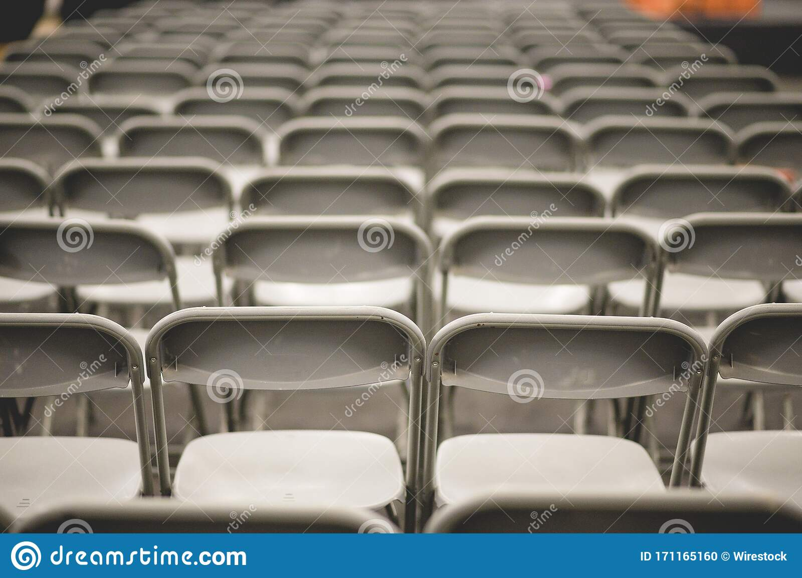 Gray Metal Chairs In A Conference Room Before The Event Stock Photo Image Of Armchair Concept 171165160