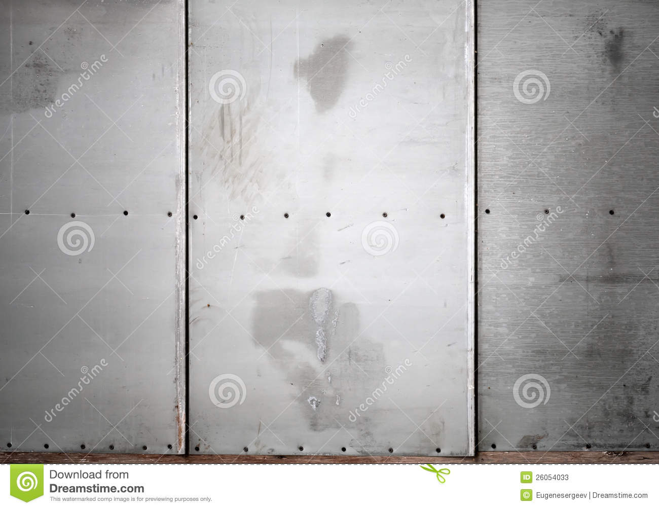 Gray Metal Wall With Screws Background Texture Stock Image
