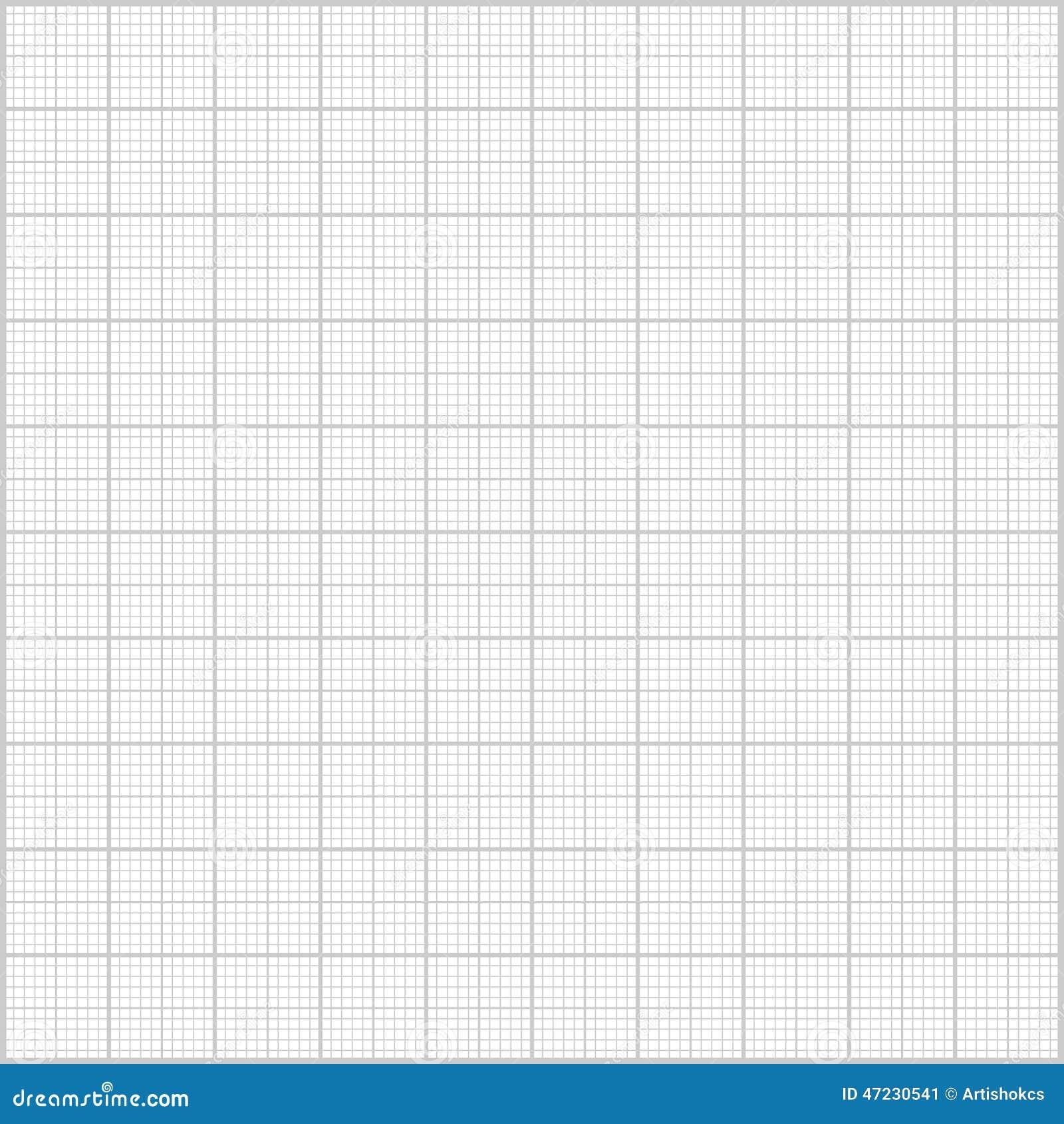 Gray Millimeter Paper Background Stock Vector Image