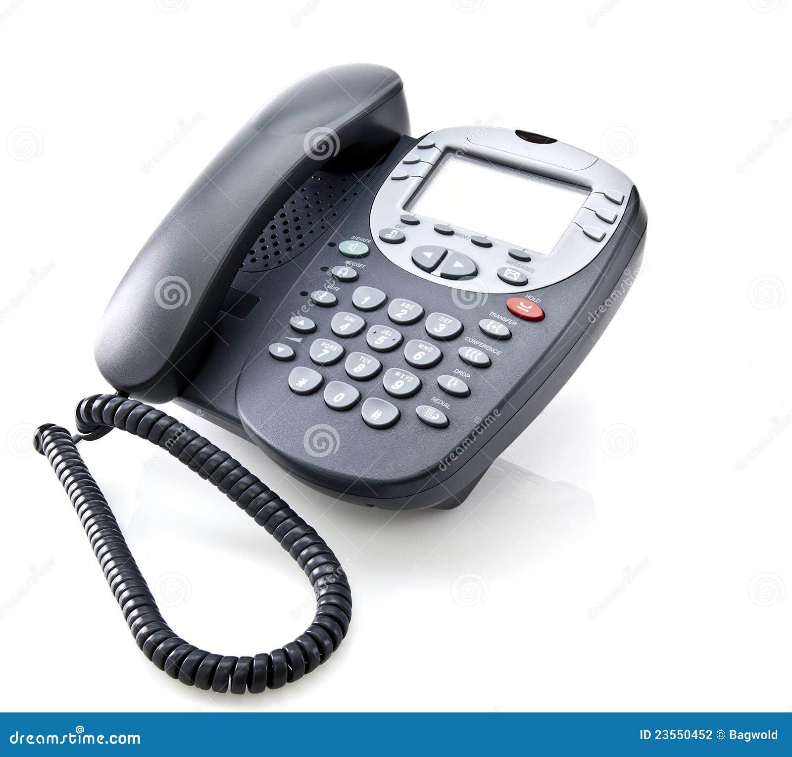 Gray office telephone