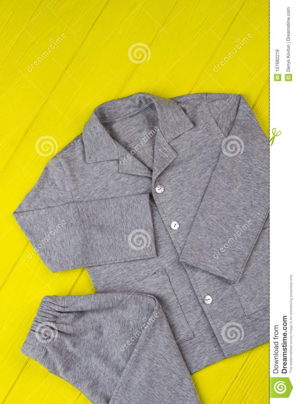6c1f14a06cfd Gray pajama set for boys. Loose pants and shirt made of soft cotton. Warm  and comfy for winter nights.