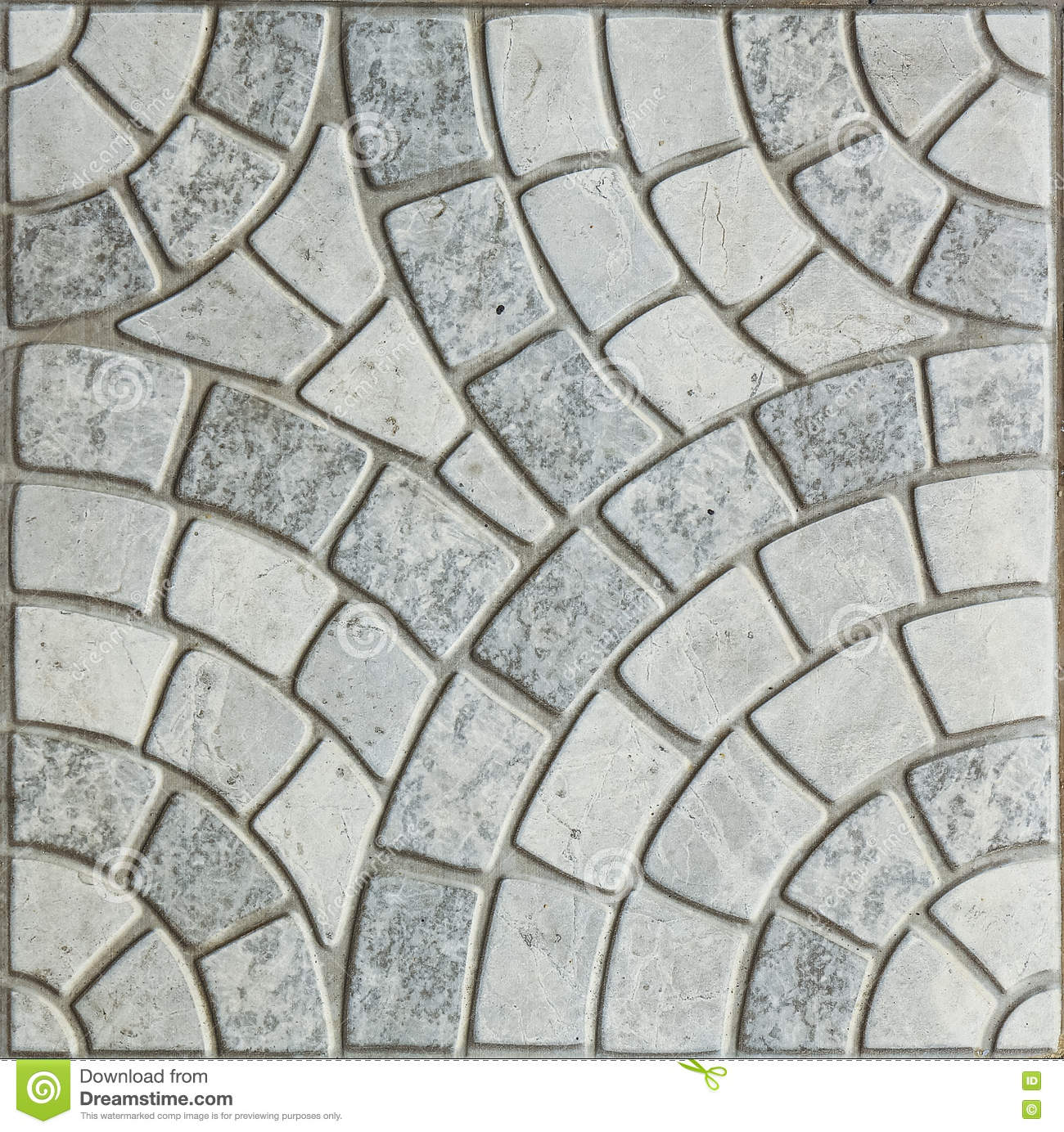 Gray Paving Slabs - modell av cirkeln