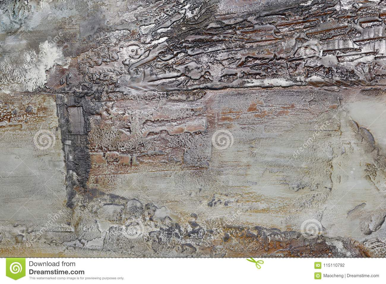 Gray Quaint Abstract Painting Of Lacquer Painting, Adobe Rgb Stock