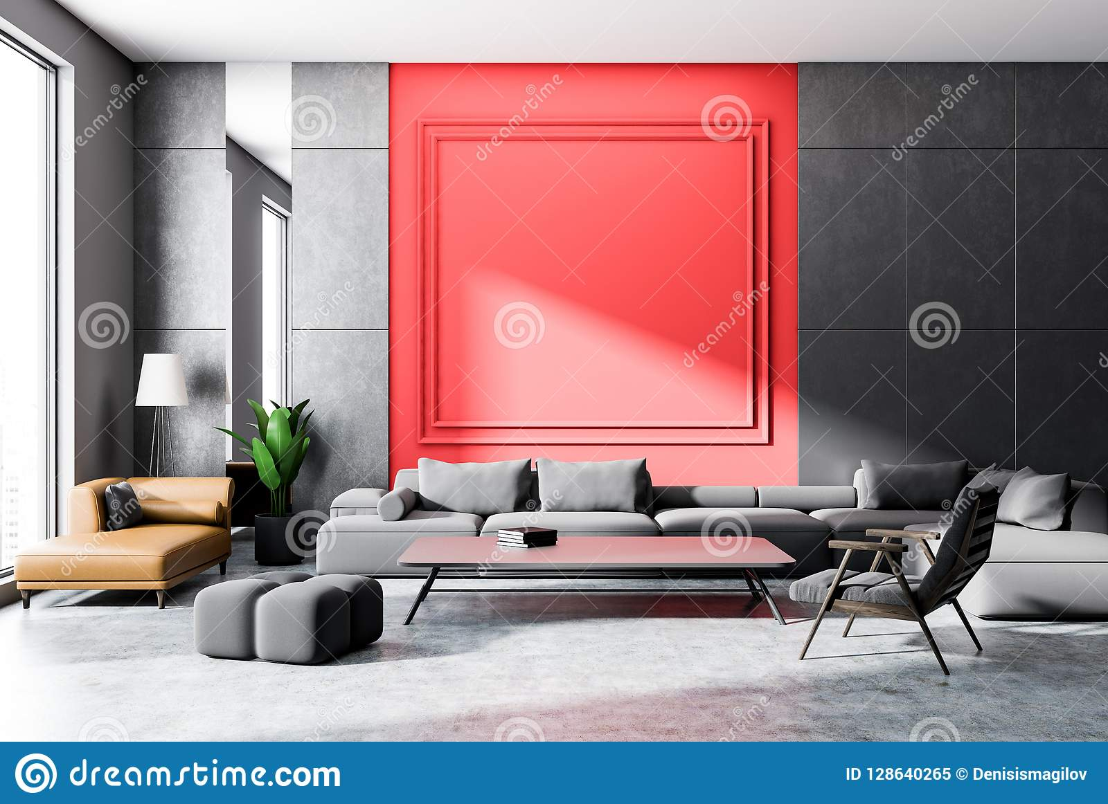 gray and red living room gray sofa stock illustration rh dreamstime com gray and red living room decorating ideas gray and red living room decor