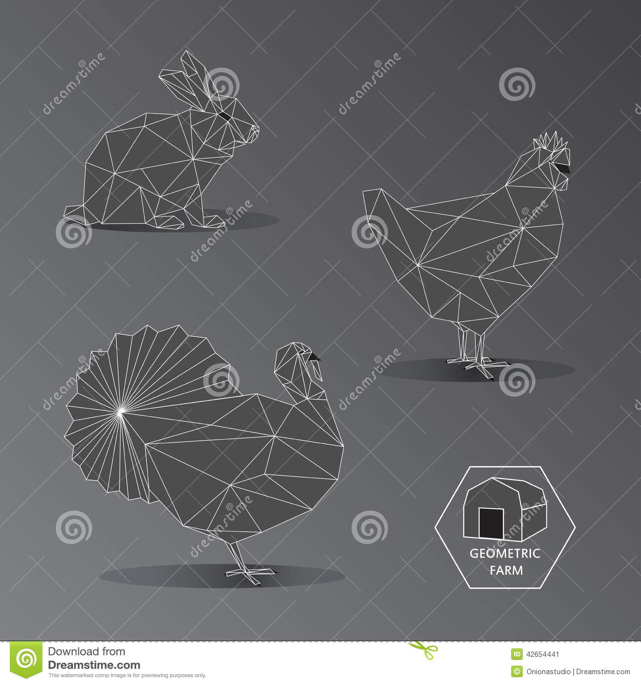 Image result for geometric configuration of animals
