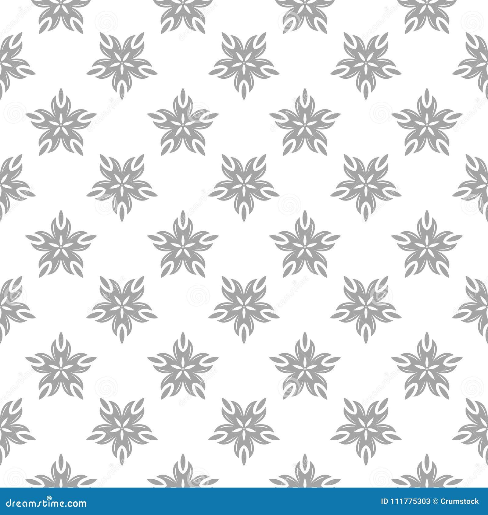 Gray seamless pattern on white background