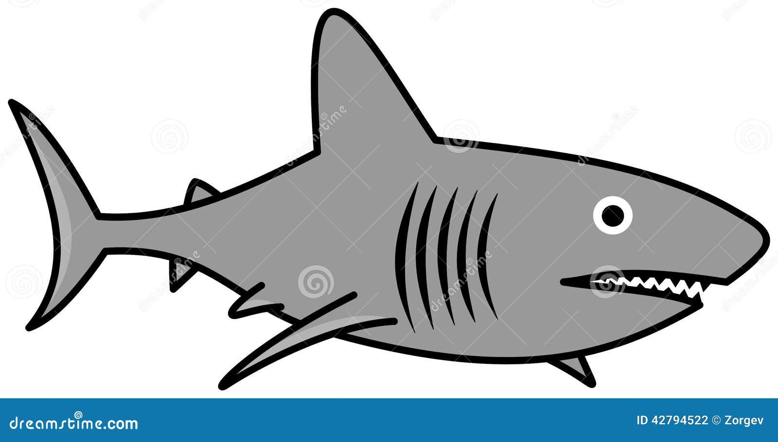 A Gray Shark Swimming Stock Illustration - Image: 42794522