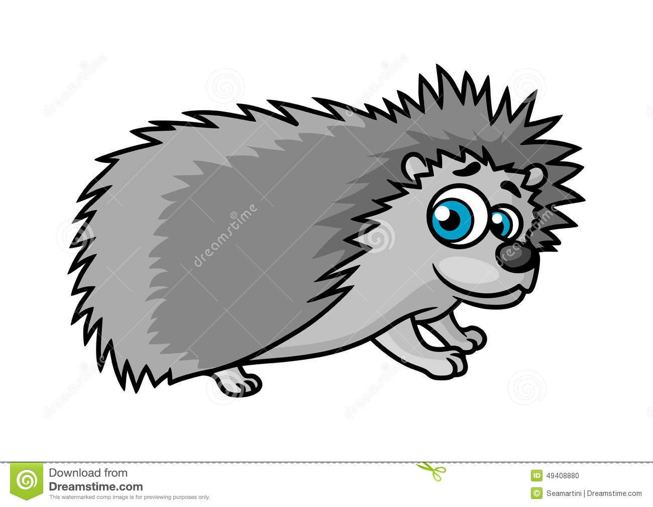 Cartoon Character Design Eyes : Gray smiling hedgehog character stock vector image