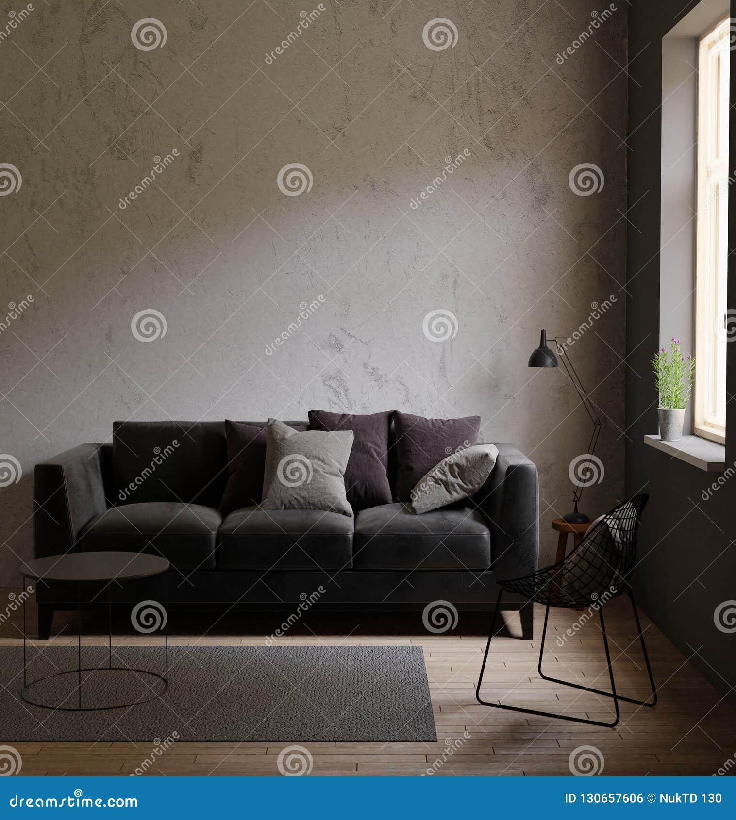 Superb Gray Sofa In A Dark Room The Bright Light From Eternal Light Machost Co Dining Chair Design Ideas Machostcouk