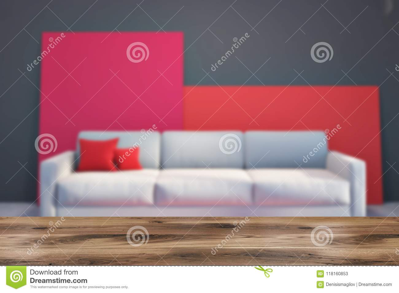 gray sofa in a gray and red living room blur stock illustration rh dreamstime com gray and red living room furniture gray and red living room furniture