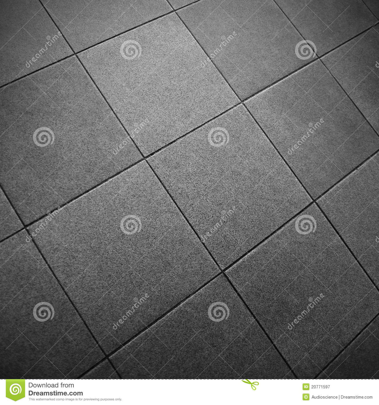 Gray Square Tile Floor Stock Image Image Of Closeup 20771597